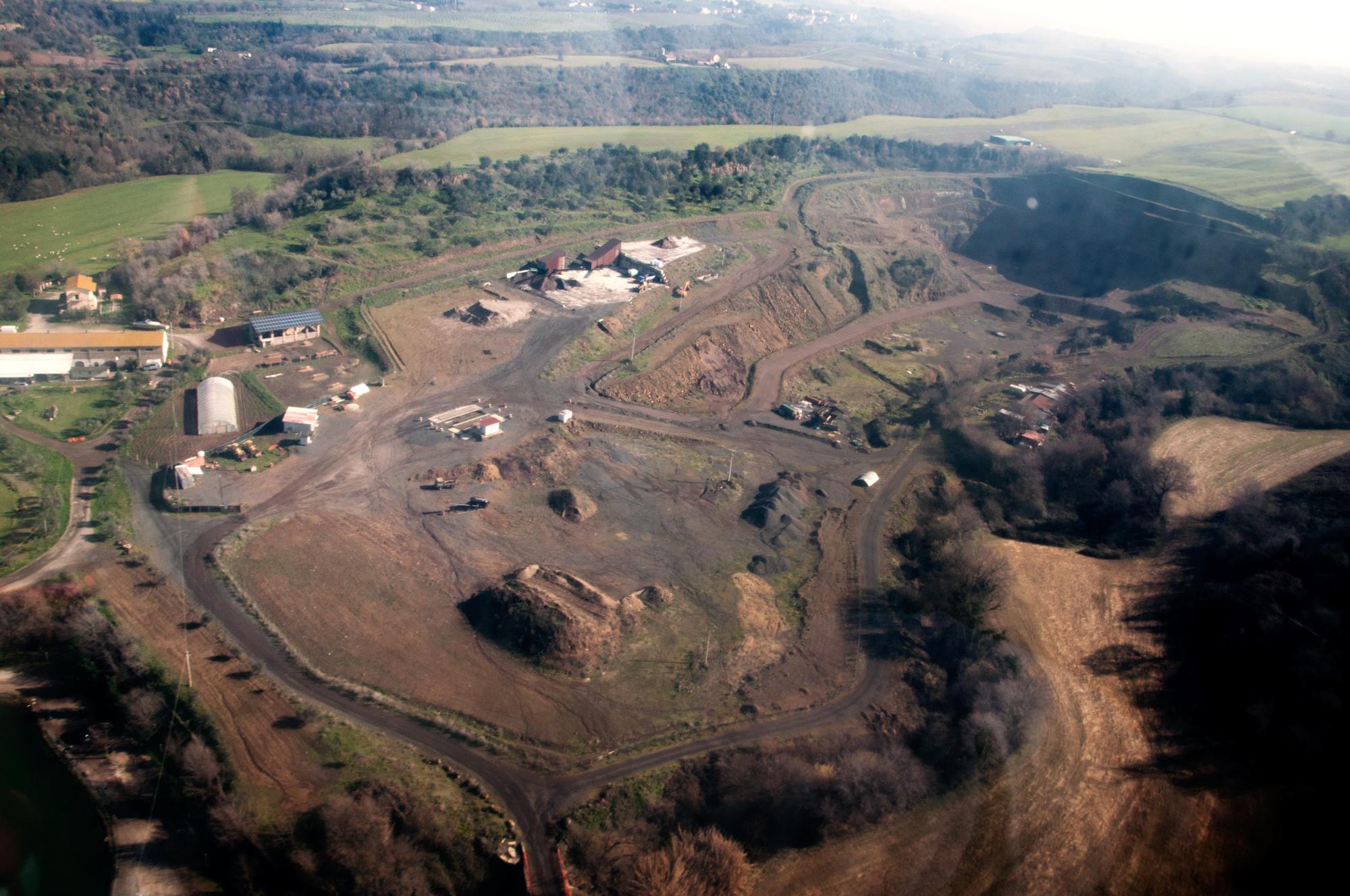 Corcolle - sito che avrebbe dovuto ospitare la nuova discarica.