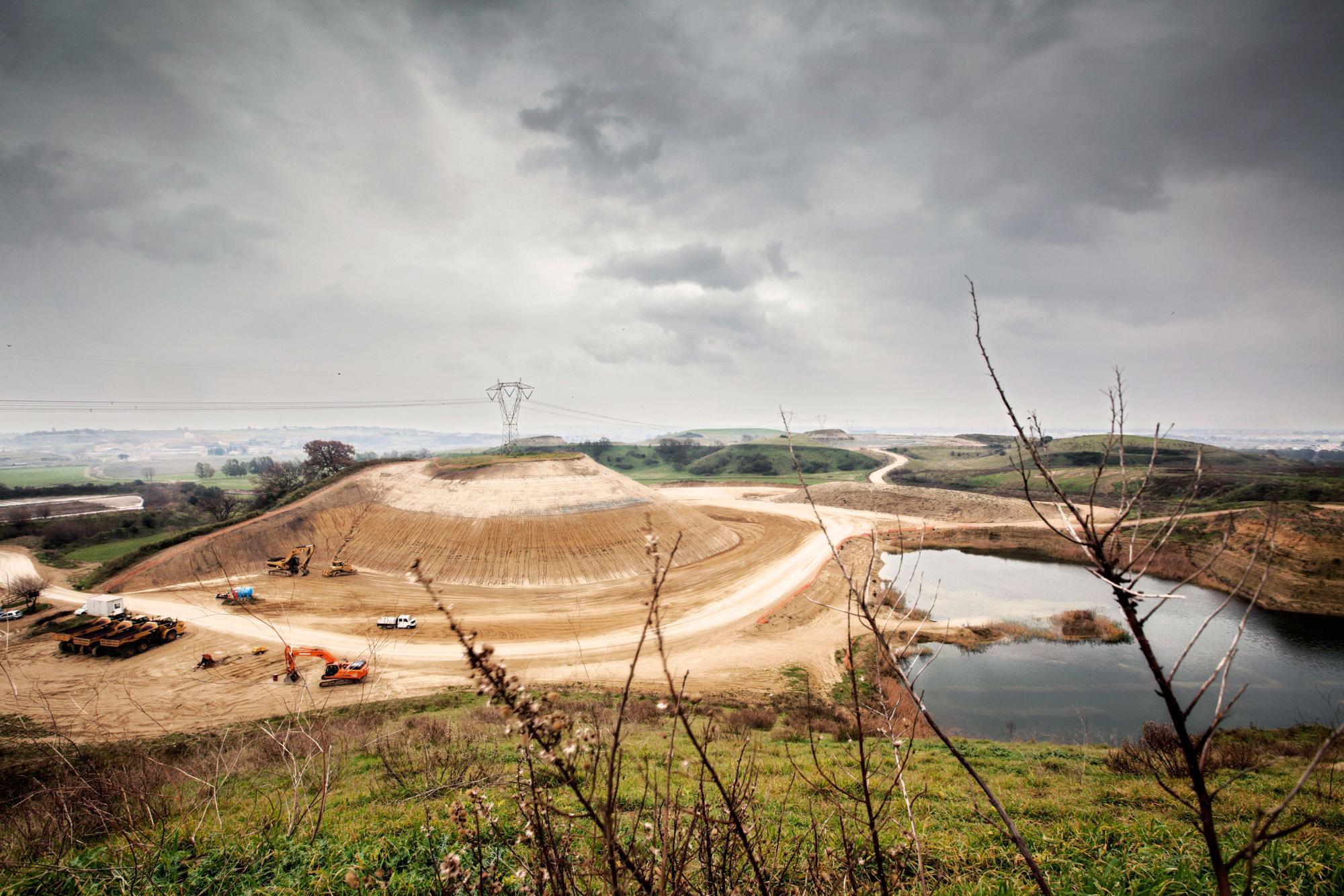 Gli scavi del nuovo sito dei monti dell'ortaccio raggiungono la falda acquifera