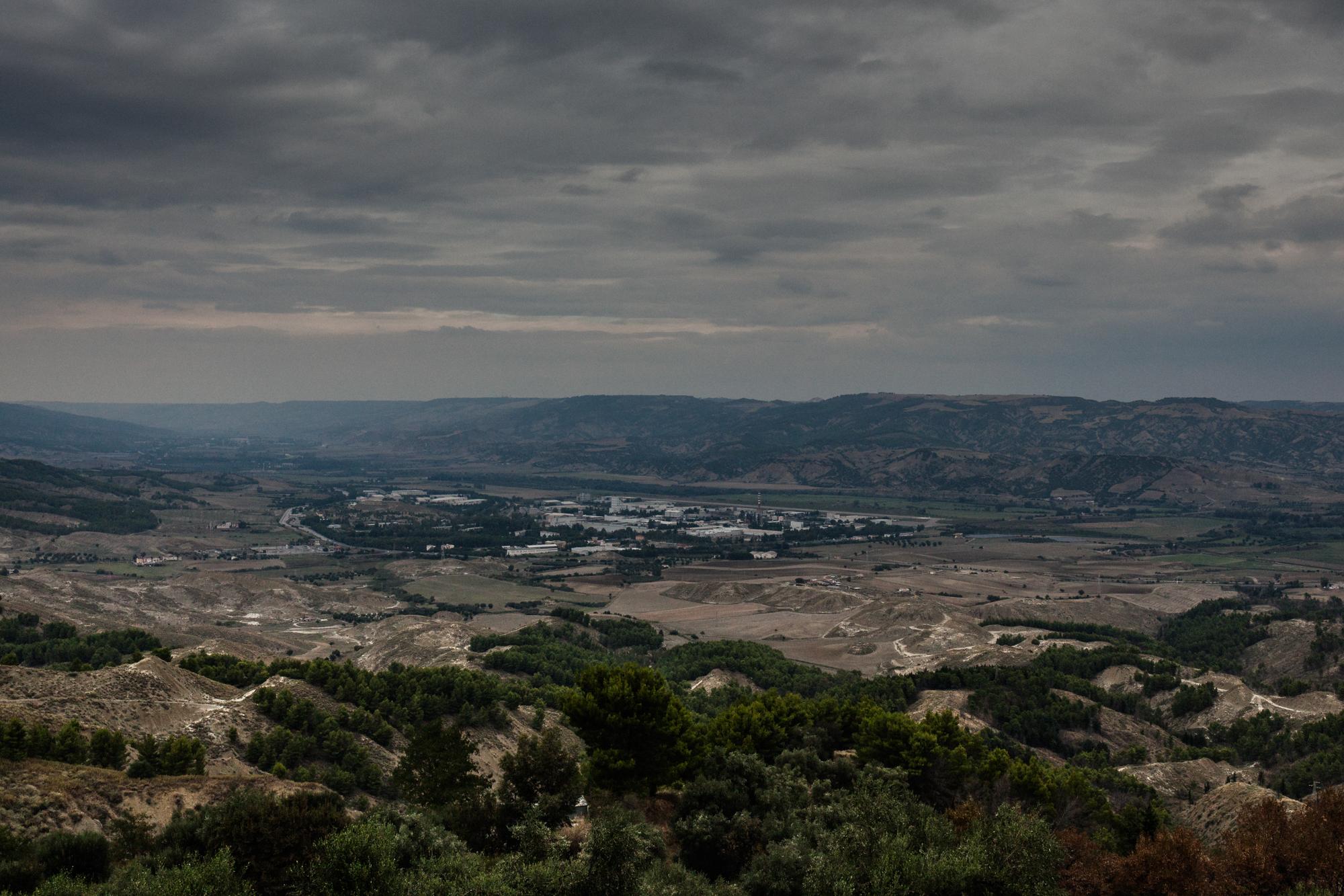 La Val Basento in provincia di Matera (Basilicata) è una delle aree industriali più estese del Sud Italia, 2015.
