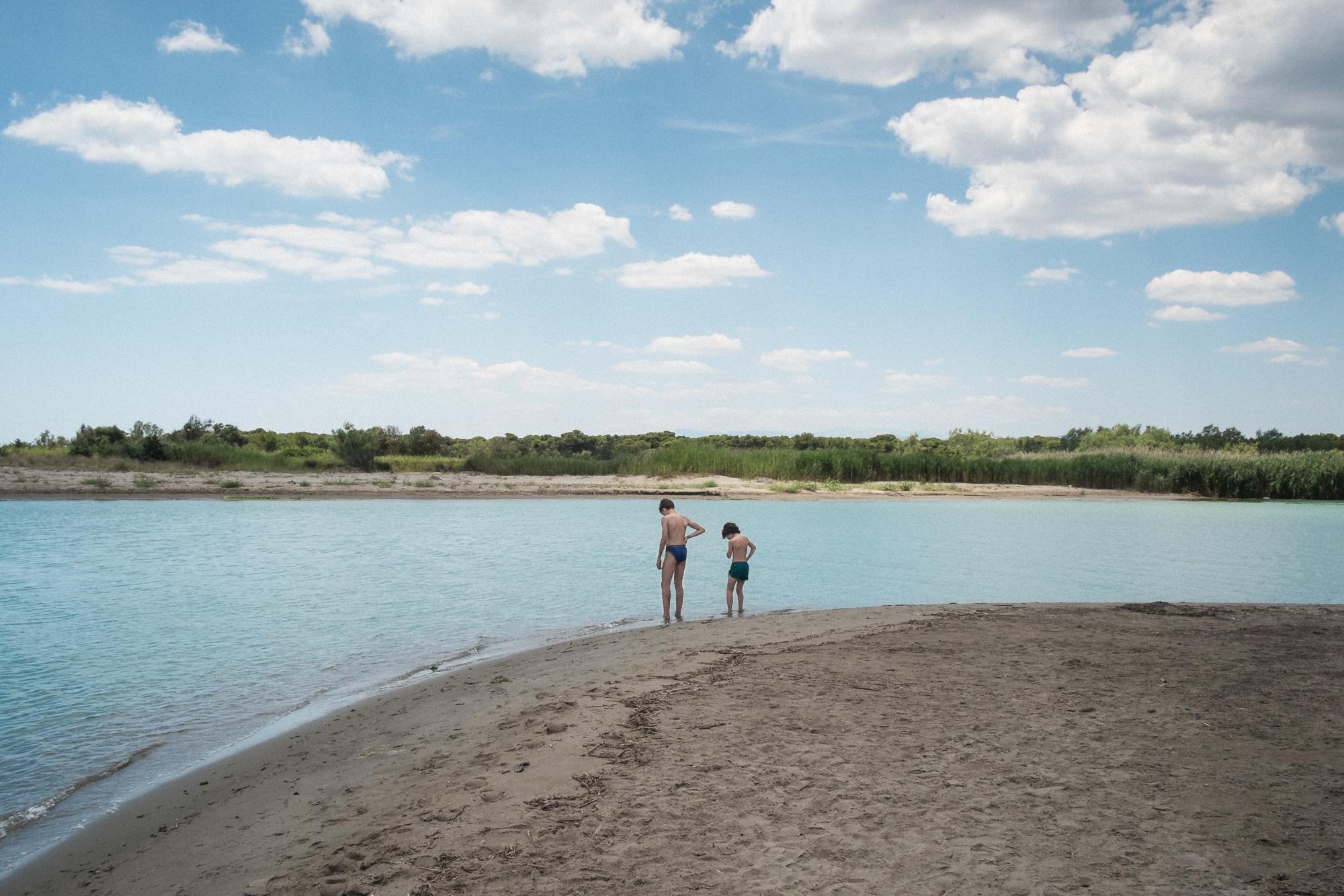 La spiaggia di Marina di Pisticci (MT), 2015. Il fiume Basento, con 149 km di corso, è il fiume più lungo della Basilicata e fra quelli che sfociano nel Mar Jonio.