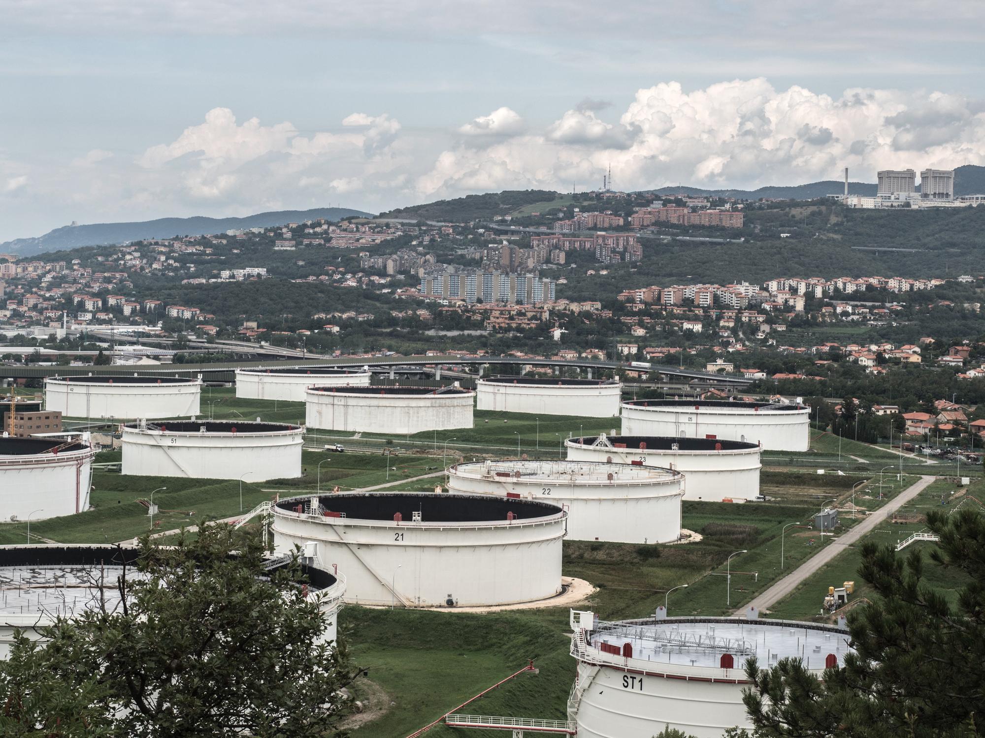 """Nel territorio del Comune di San Dorligo della Valle, il Parco Serbatoi, adibito alle operazioni di stoccaggio e movimentazione del petrolio greggio, ha richiesto l'esproprio di un chilometro quadrato di terreno fertile, e procurato continue esalazioni di greggio provenienti dall'enorme area che occupa la parte Sud/Est della Zona Industriale di Trieste, 2015. L'estrema vulnerabilità del terminale è stata già dimostrata dal grave e spettacolare attentato del 4 agosto del 1972 ad opera di """"Settembre Nero"""", movimento terrorista palestinese. Le conseguenze furono gravissime ma vennero tenute nascoste per non mettere in discussione l'esistenza stessa dell'impianto. Il petrolio bruciò per giorni e i migliaia di metri cubi di greggio fuoriusciti dai depositi contaminarono diffusamente i terreni (anche agricoli) e la falda della valle di Zaule. Nel 2007 il Ministero dell'Ambiente ha deciso di inserire la SIOT con il suo parco serbatoi nel SIN di Trieste a causa del pesante inquinamento esistente e a seguito di altri due gravi incidenti con fuoriuscita di greggio, avvenuti tra l'agosto del 2006 e il gennaio del 2007. Trieste 2015."""