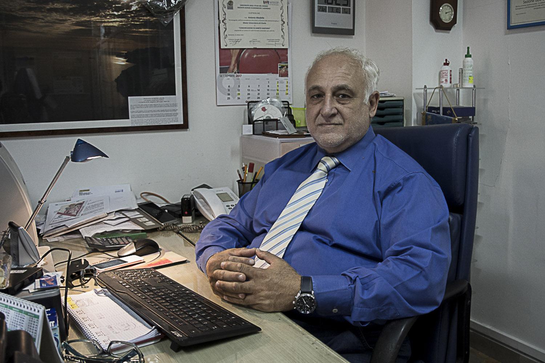 Napoli, 2017. Dott. Antonio Marfella, primario oncologo dell'ospedale Pascale di Napoli e consulente delle associazioni di cittadini di Pianura (NA).