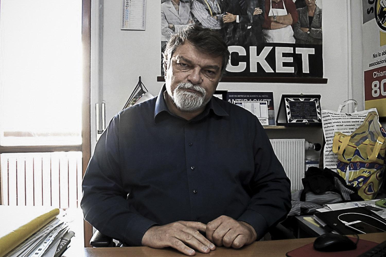 Pianura, Napoli, 2017. Luigi Cuomo, Presidente dell'Associazione Antiracket Pianura. Associazione che si è costituita parte civile decine di volte accanto alle vittime della camorra.
