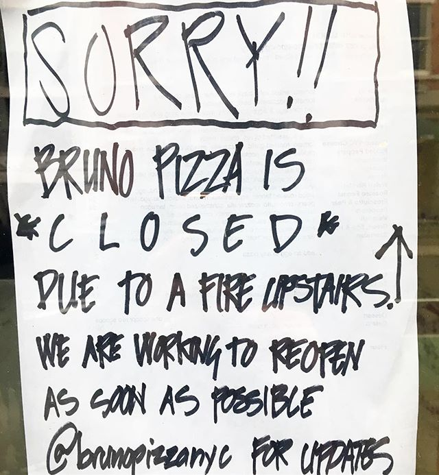 Happy New Year! Brief update: Still closed due to fire upstairs Still working on it Still hoping to make pizza again soon Still love all of you Still thankful for your good vibes sent this way as we figure it out #pizza