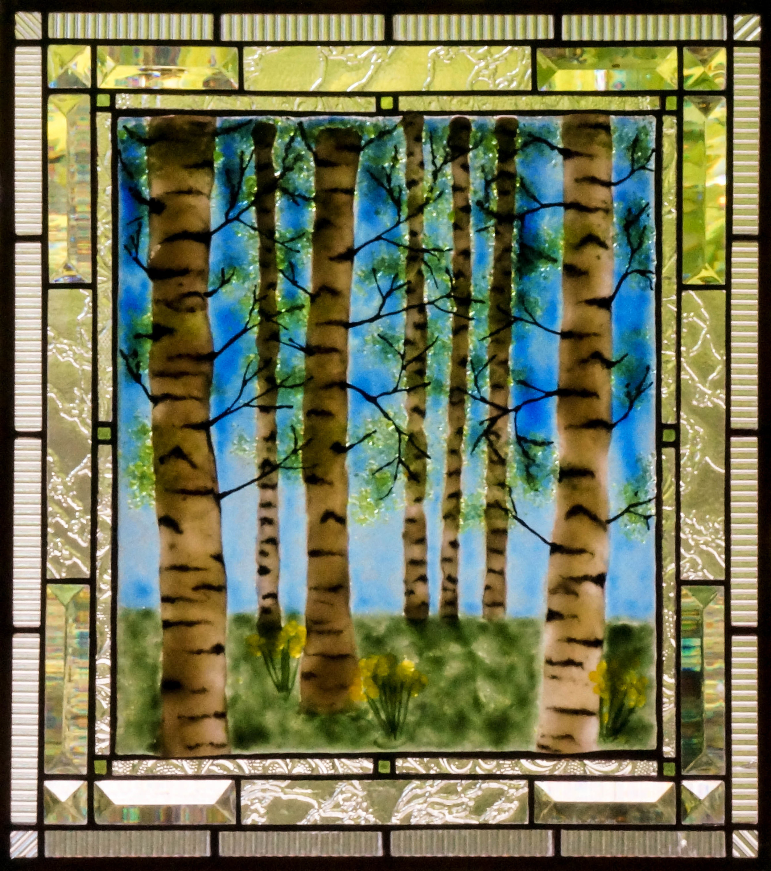 Birch Trees - bleu sky.jpg