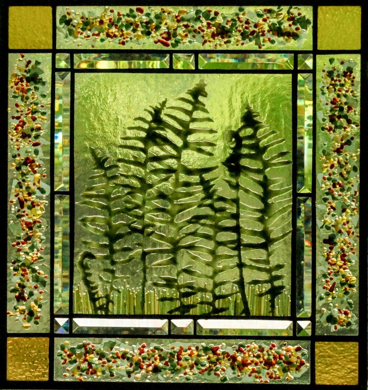 Ferns with a Confetti border