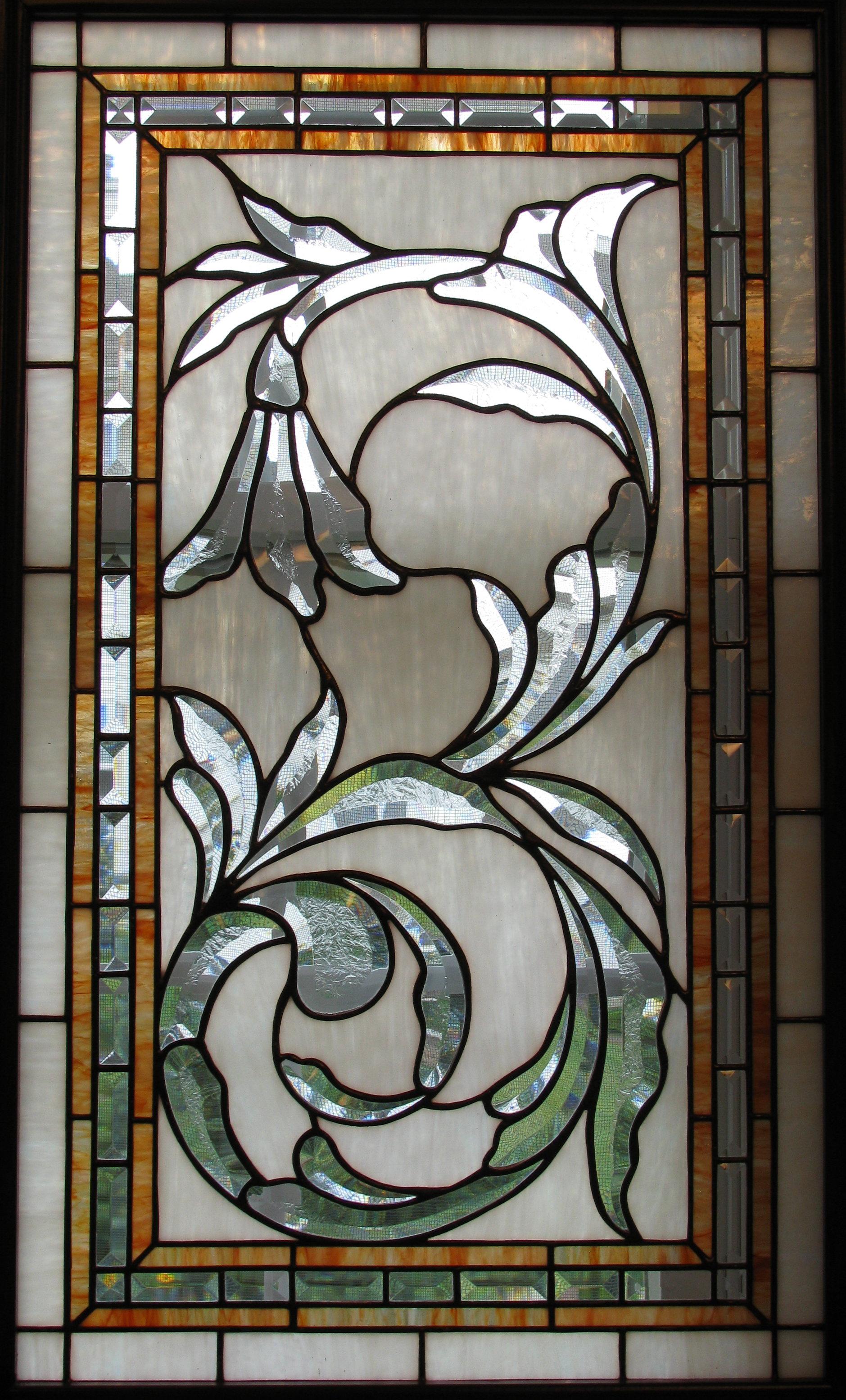 Assymetrical Beveled window on opal glass.JPG