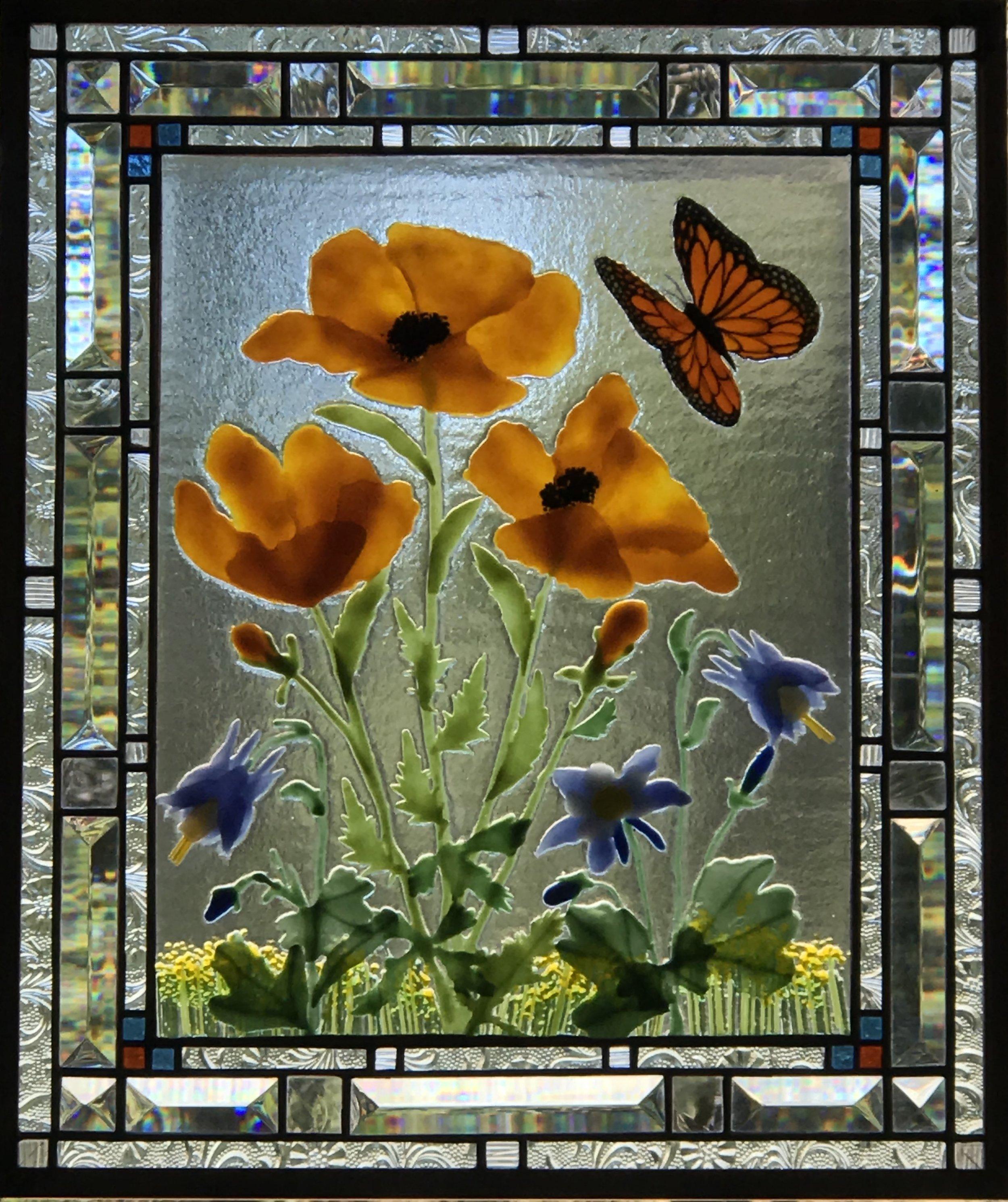 California Poppies & Monarch.jpg
