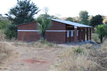 A typical two classroom block in the primary school