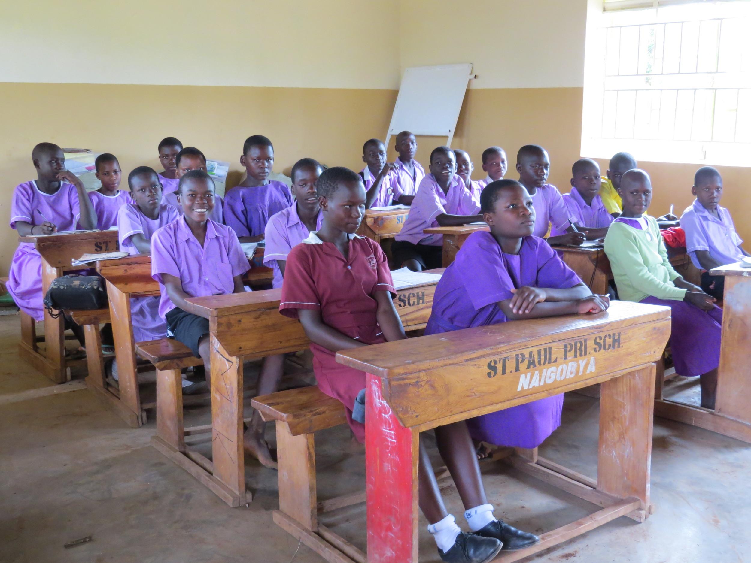 Inside permanent classroom