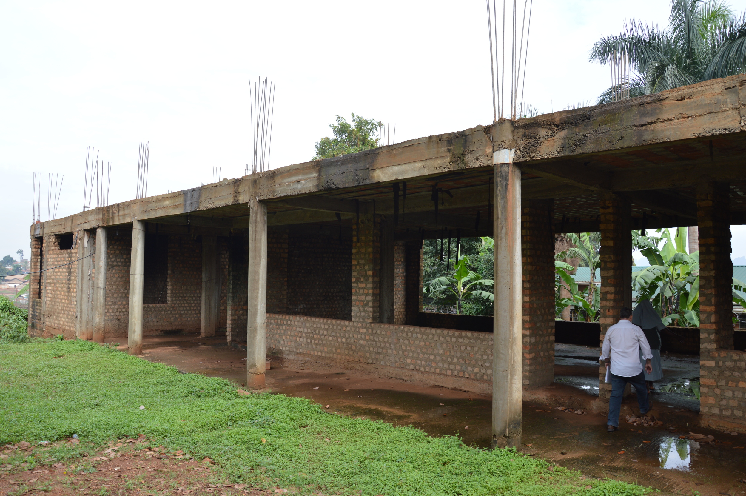 First floor of new classroom block needing completion