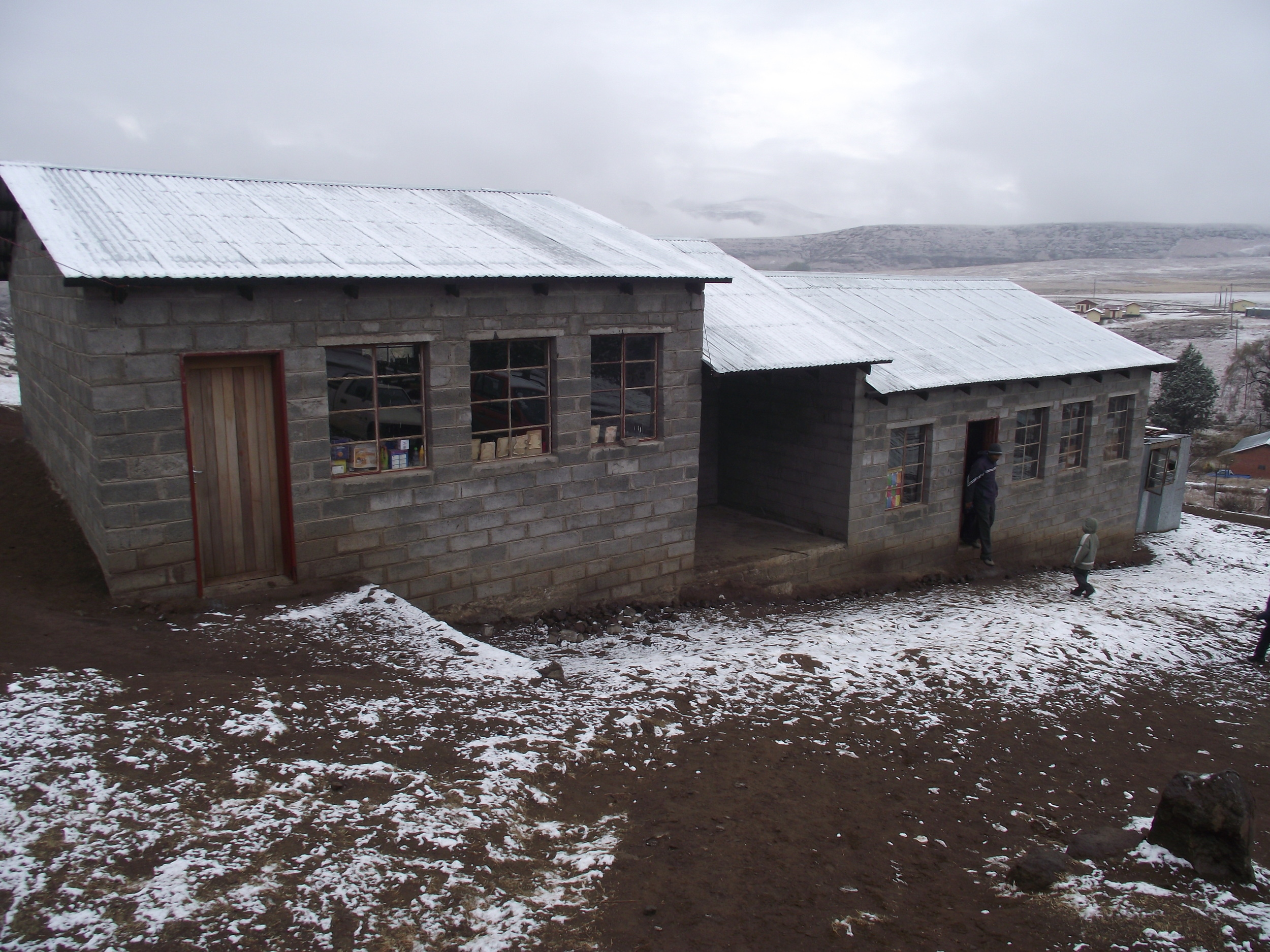 New classrooms in the snow!