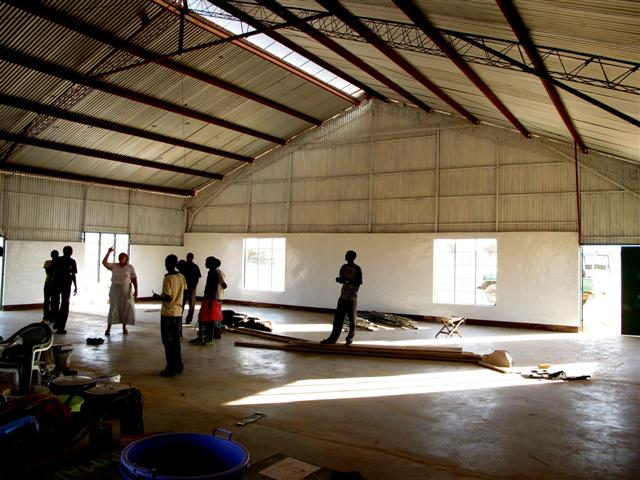 Inside new multipurpose hall