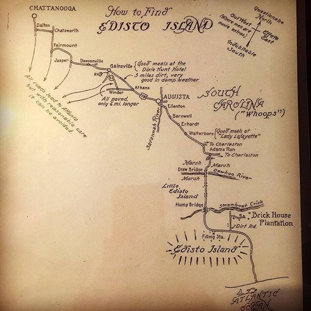 Map drawn by Gus Stoney on how to find Brick House from Sewanee- University of the South. Thanks to my great friend Caroline @cariboo24