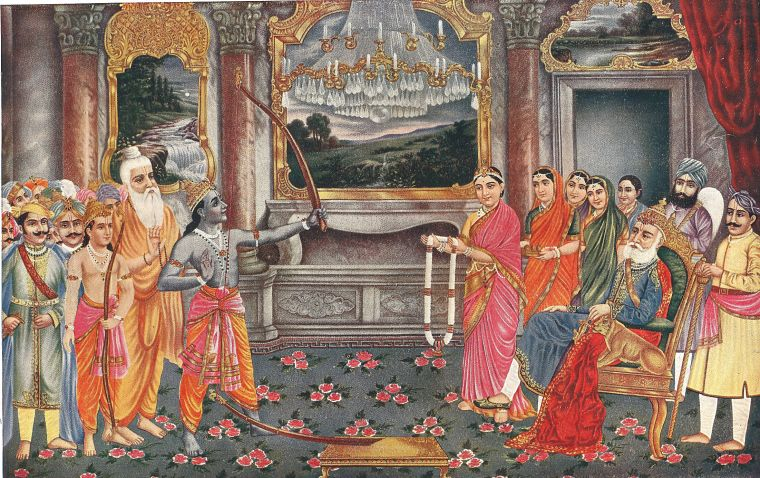 """Rama, with his bow, is a symbol of one who has realized the unity of individual and ultimate reality; his bow represents the sustained practice, the  sadhana , which makes it possible for everyone to reach that goal."" via  Yoga International"