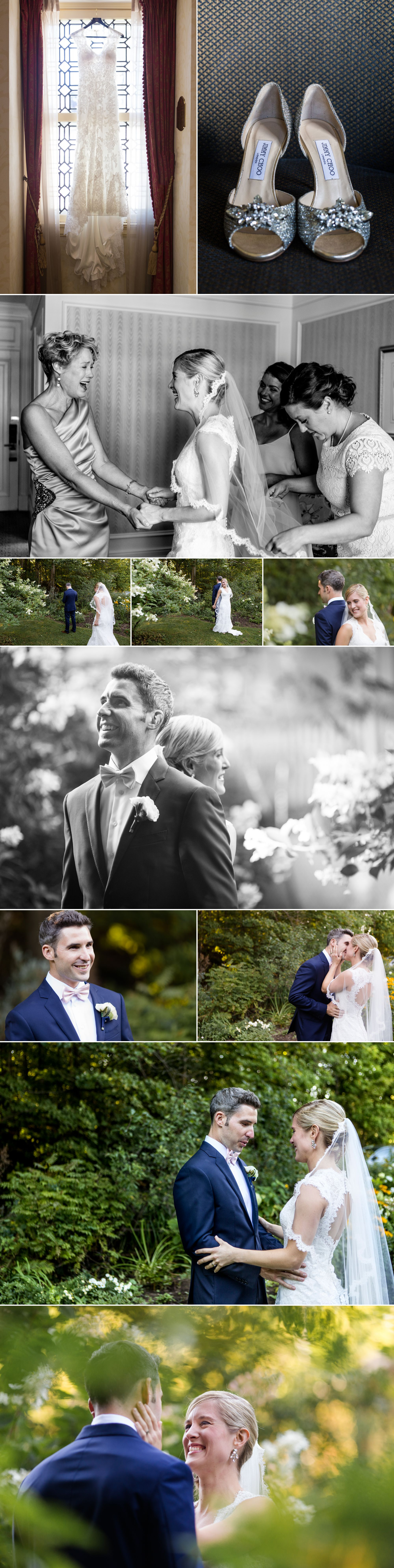 Photographs of a revel at a cottage wedding
