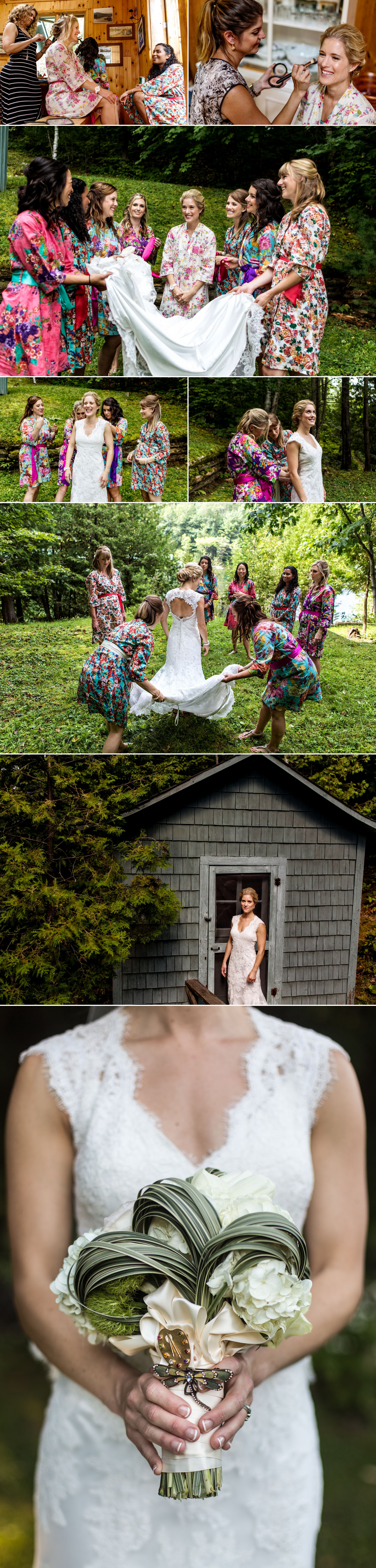 Photographs at a cottage wedding