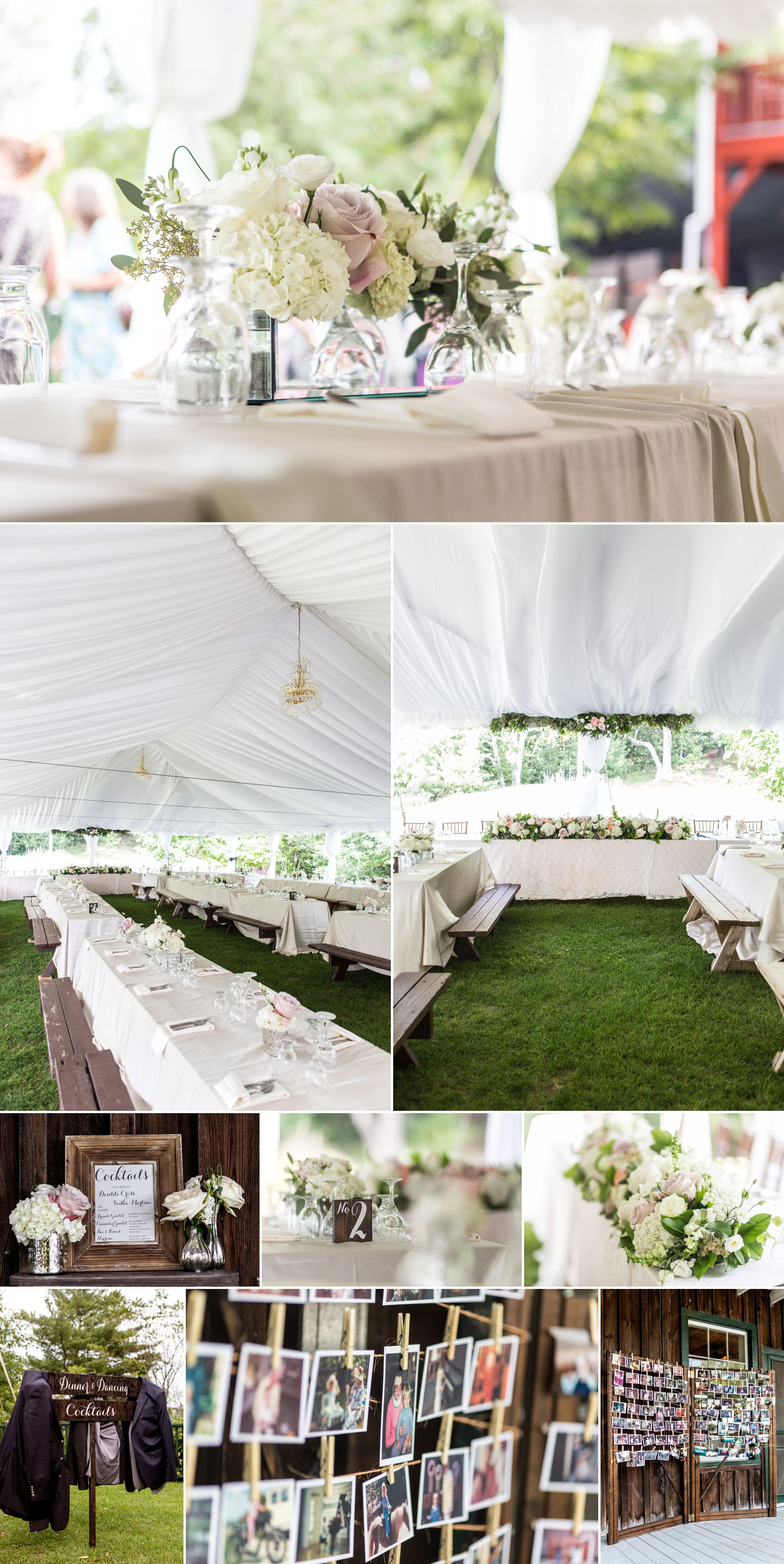 Cottage wedding reception