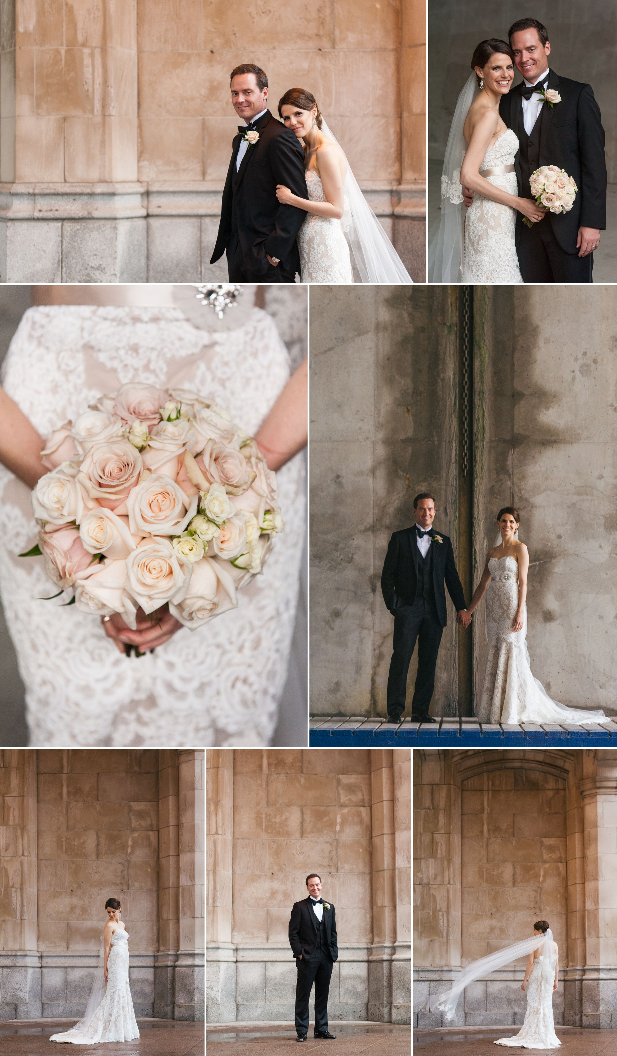 Bride and groom portraits in downtown Ottawa