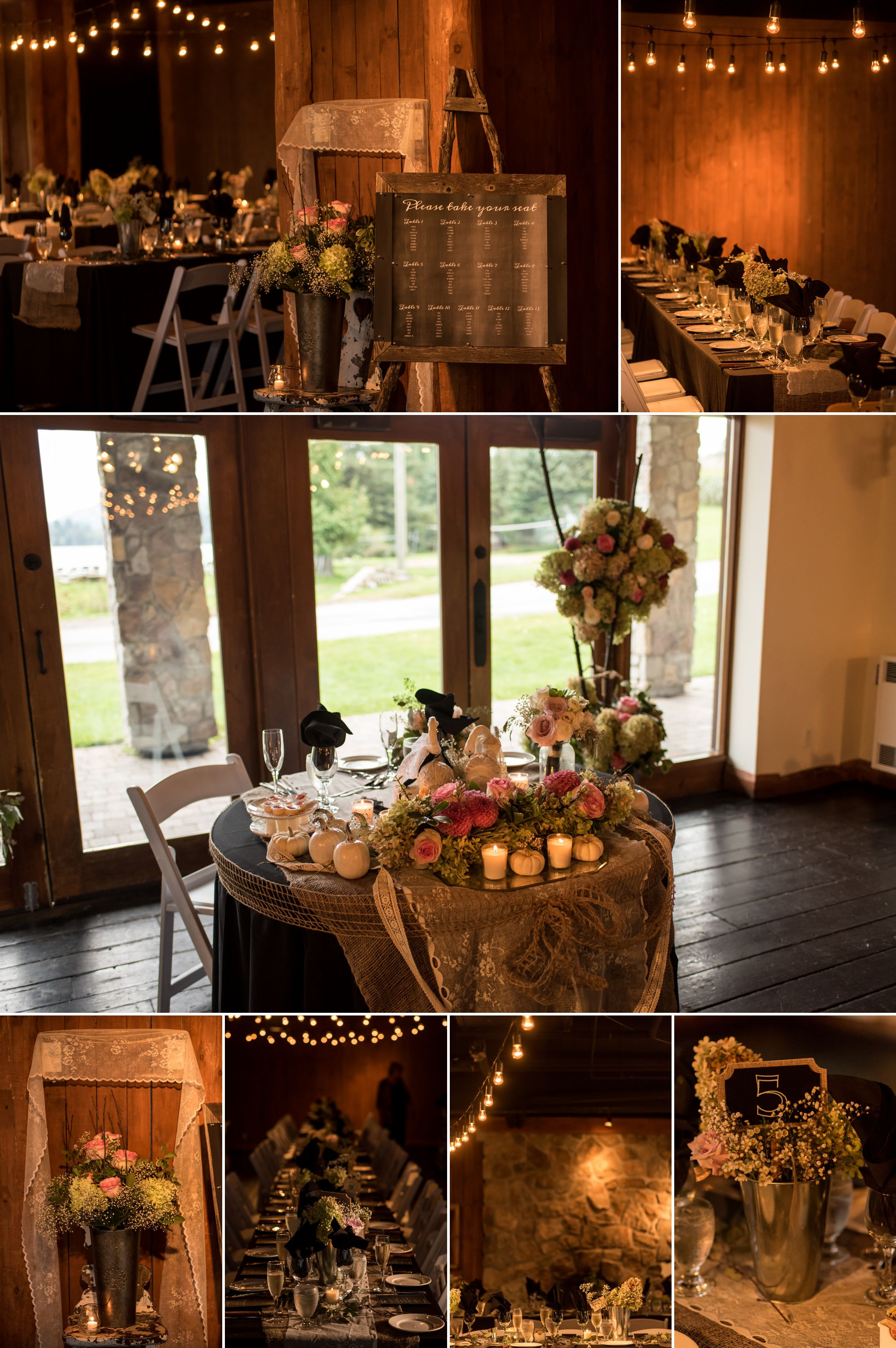Rustic vintage wedding details