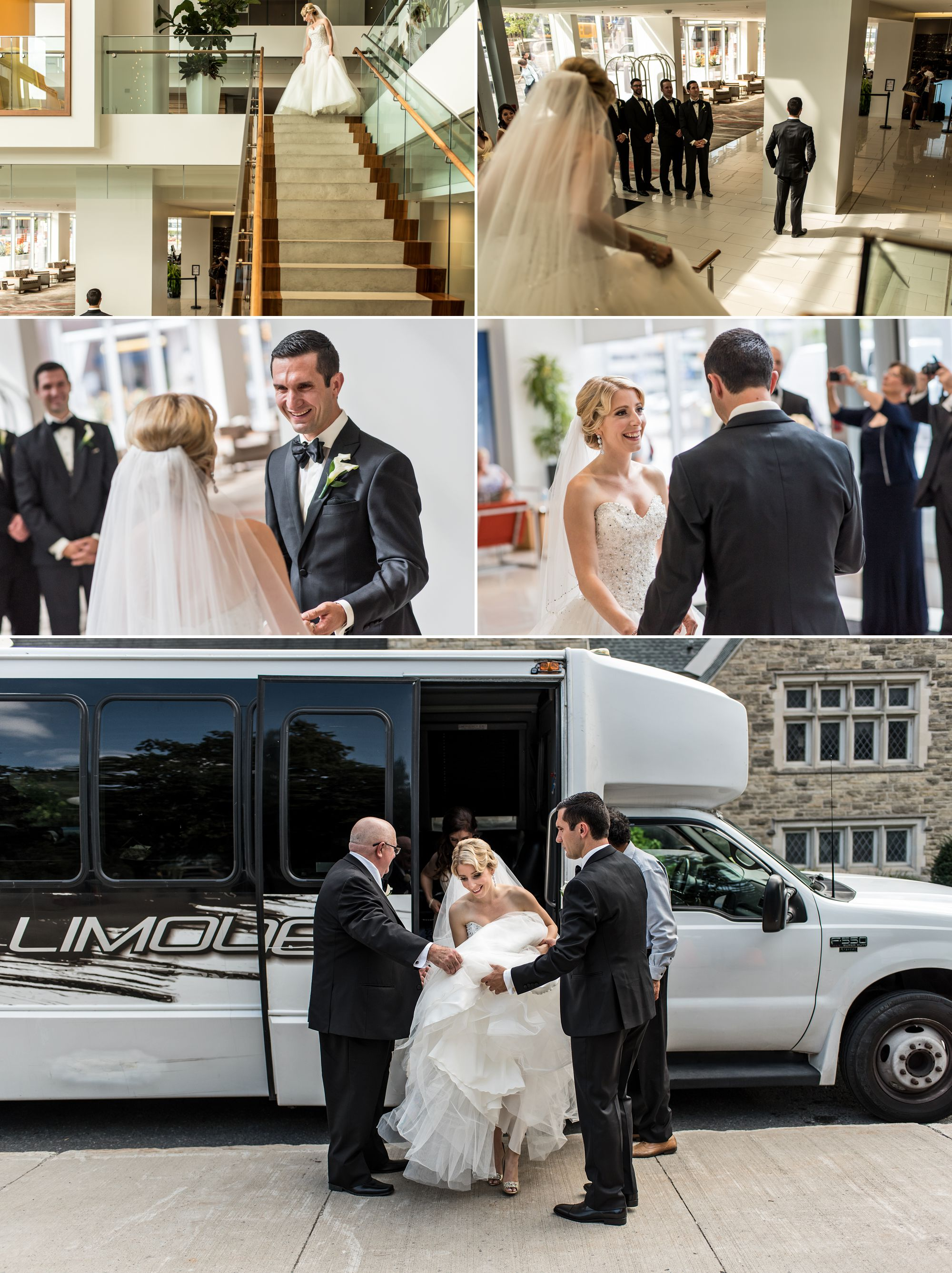 Wedding first look photographs