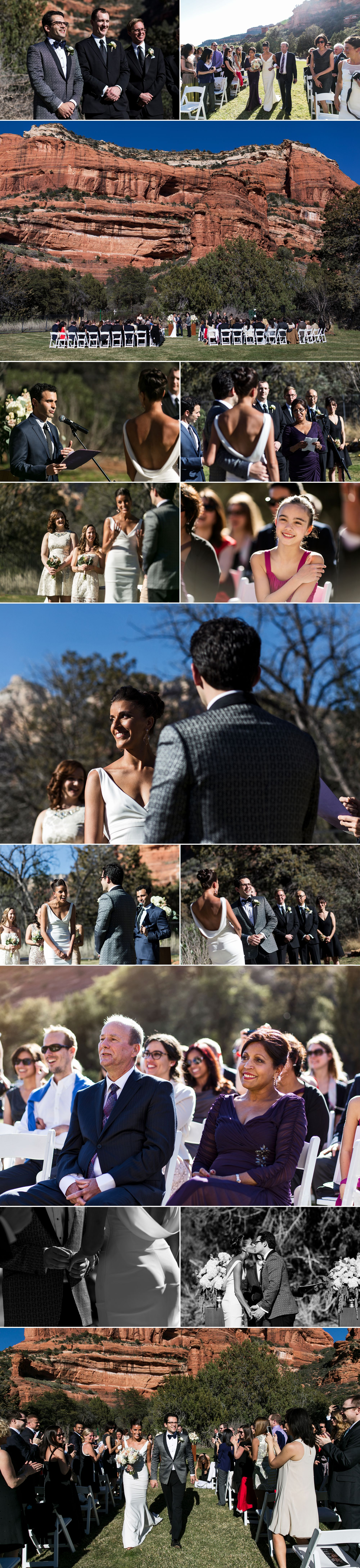 Wedding ceremony at the Enchantment Resort in Sedona Arizona