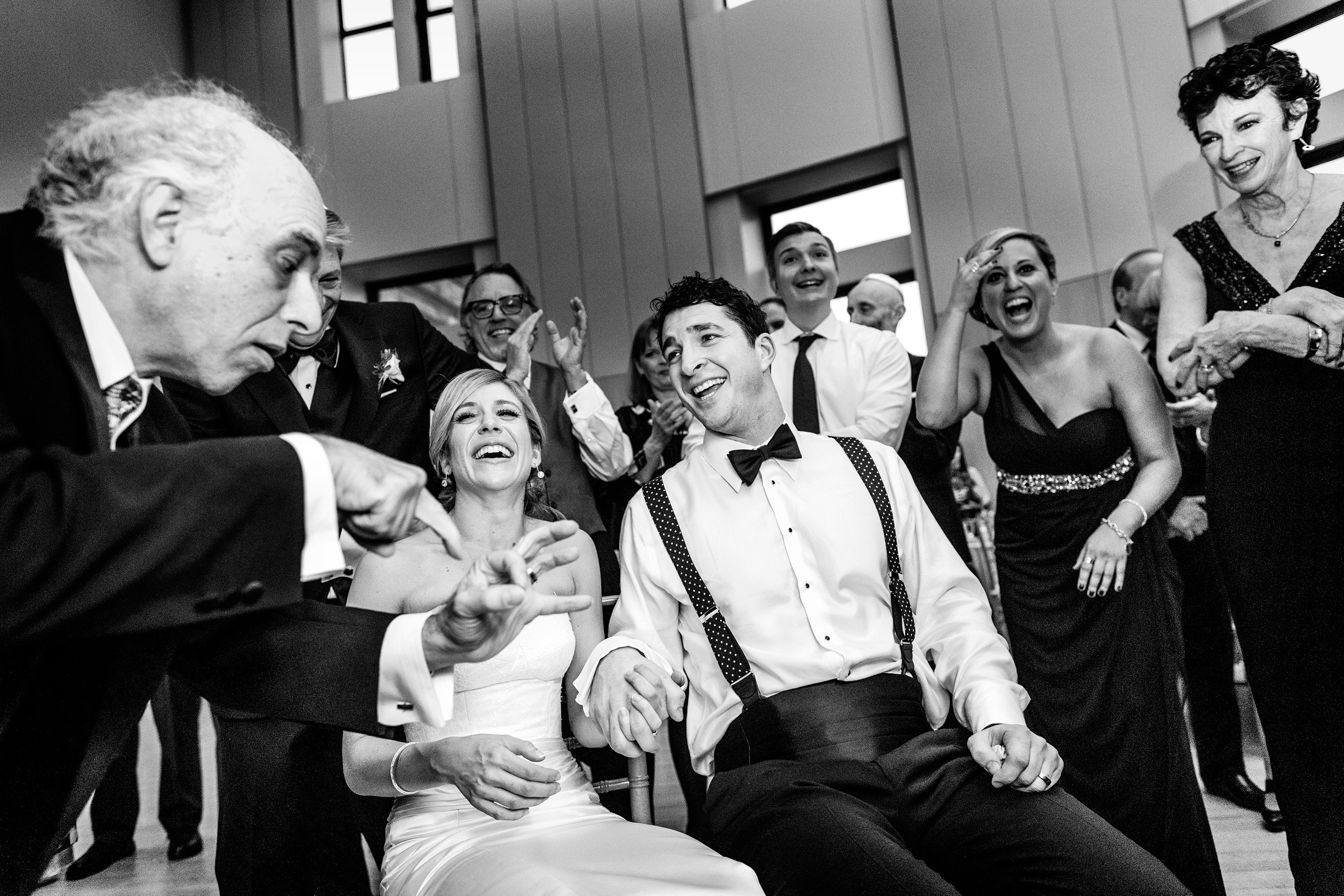 funny moment at a museum of nature wedding