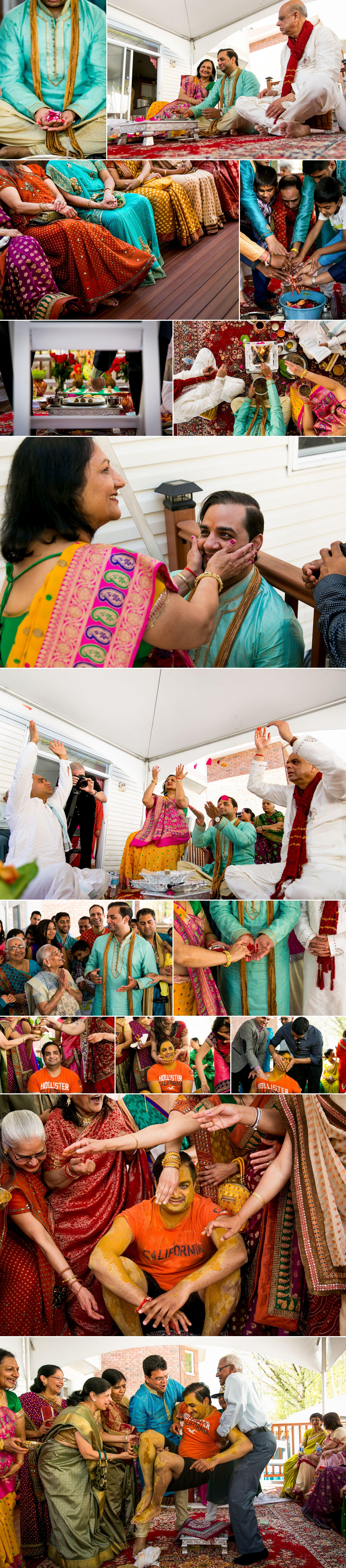 Groom's side Hindu wedding ceremony