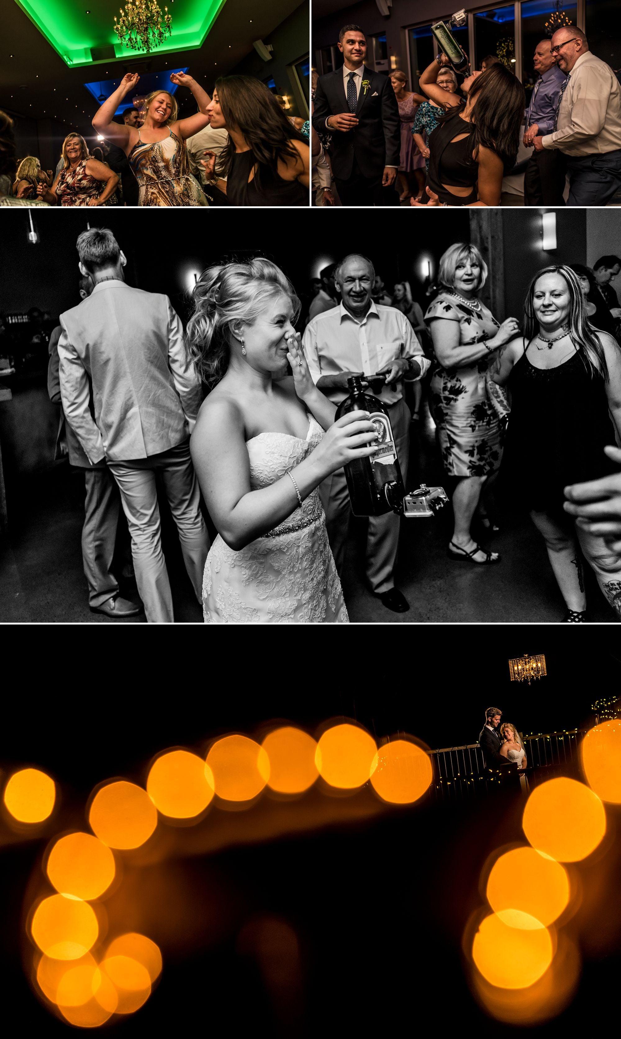 Wedding reception at Le Belvedere