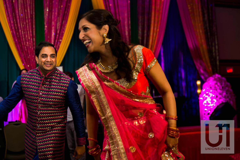 indian bride at her wedding reception