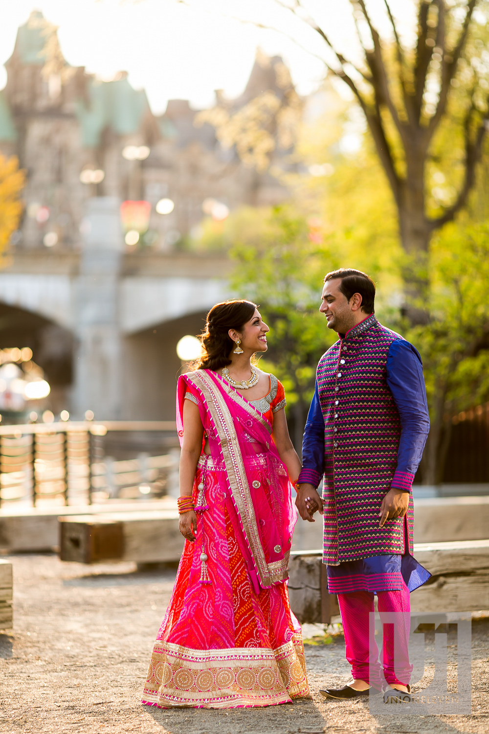 indian wedding with parliament in the background