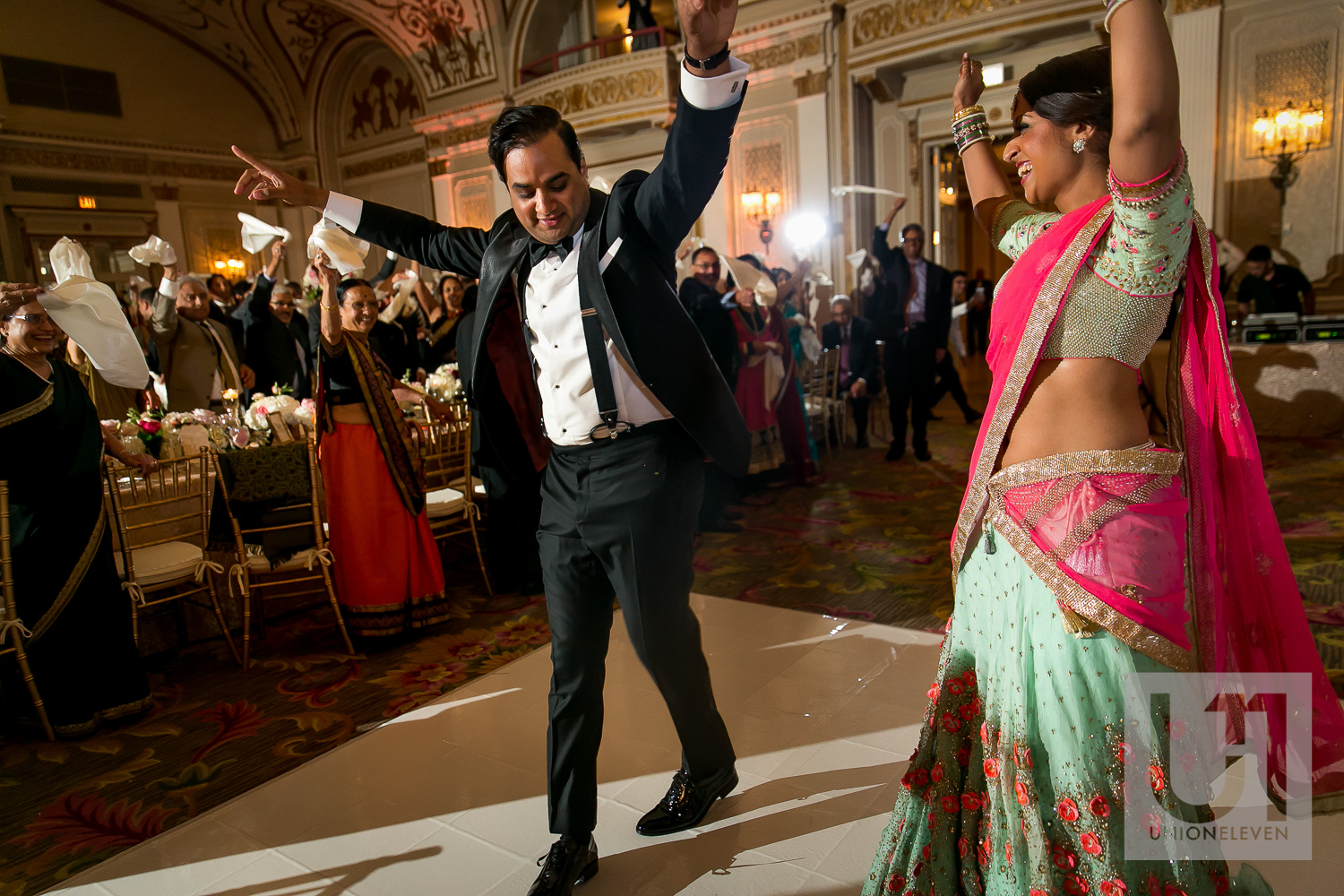 indian wedding reception at le chateau laurier hotel in ottawa