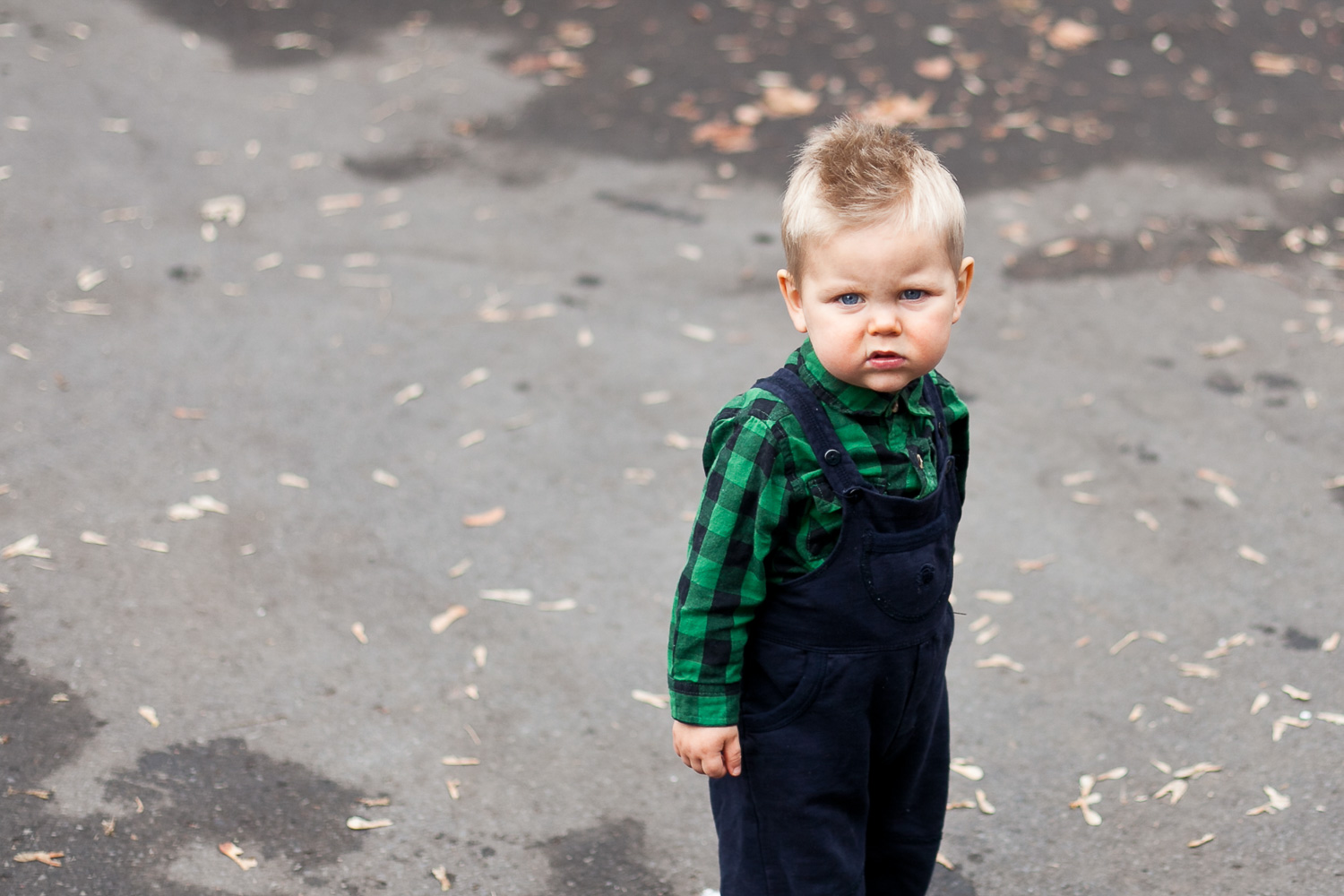 photo of a grumpy toddler