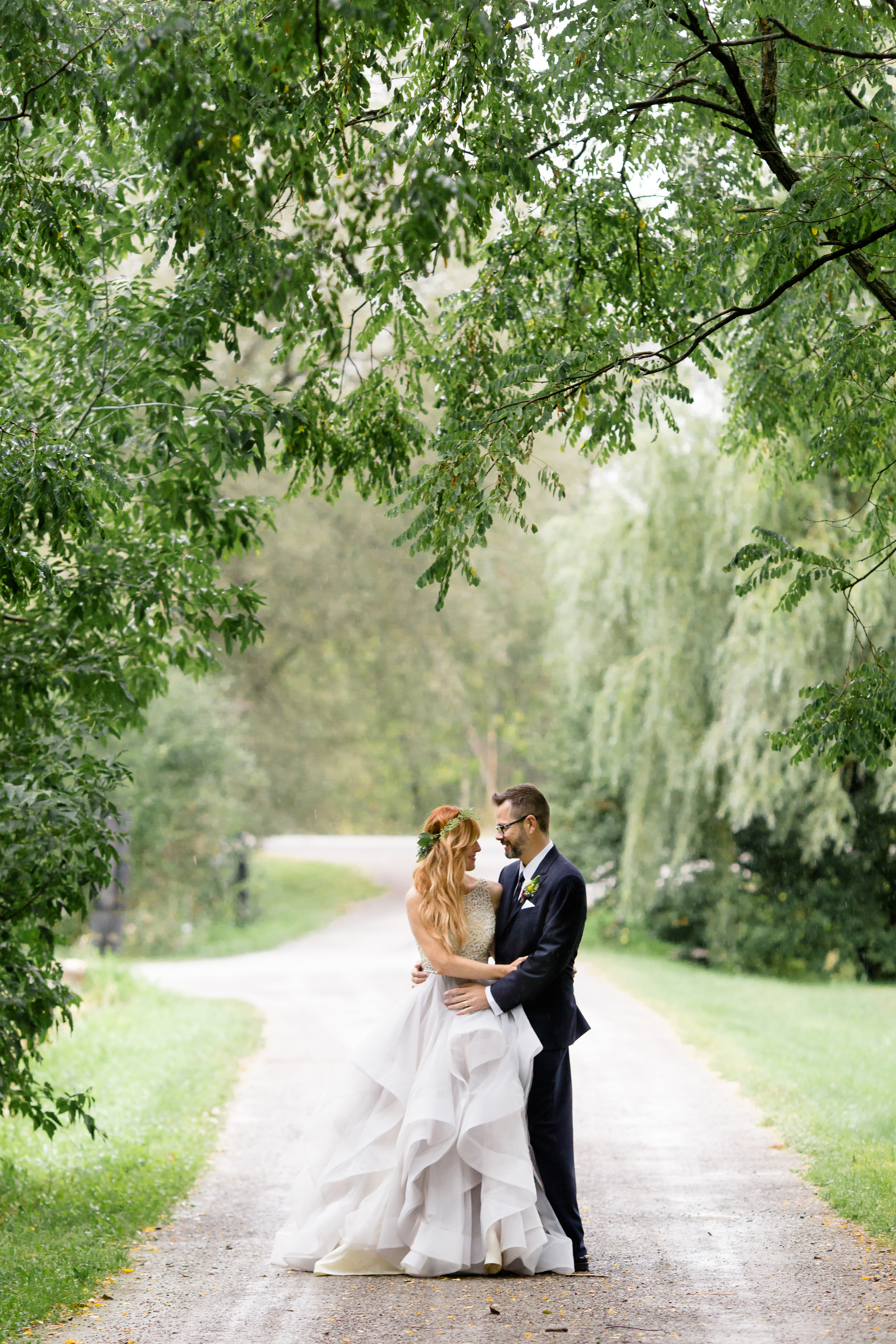 A portrait of the couple after their ceremony at Stonefields