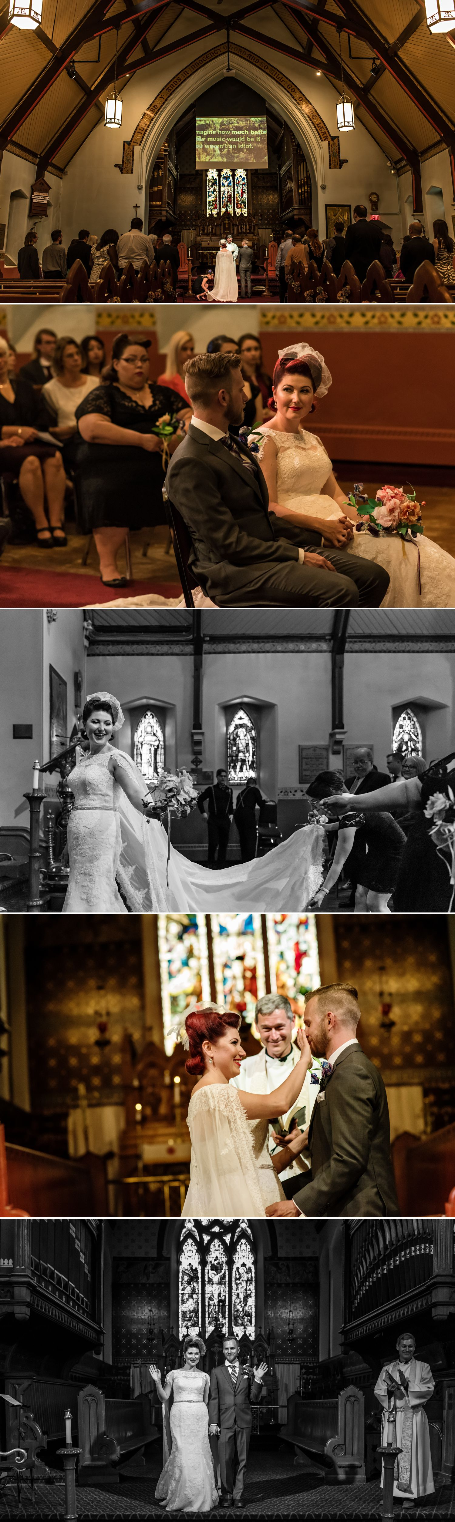 candid moments at a wedding at st albans anglican church in ottawa
