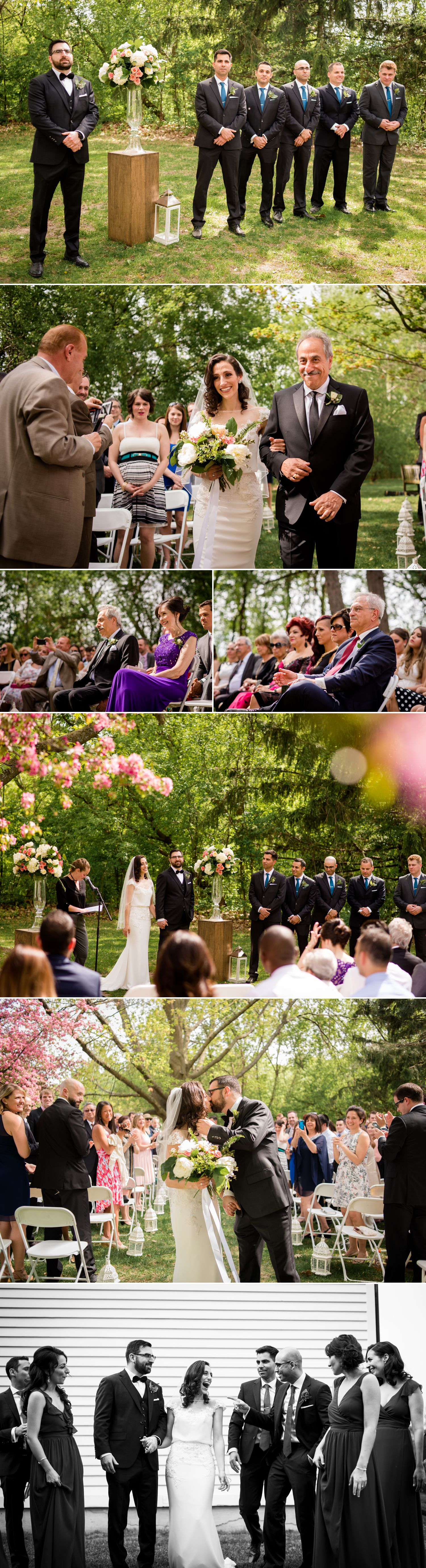 A wedding ceremony at Billings Estate