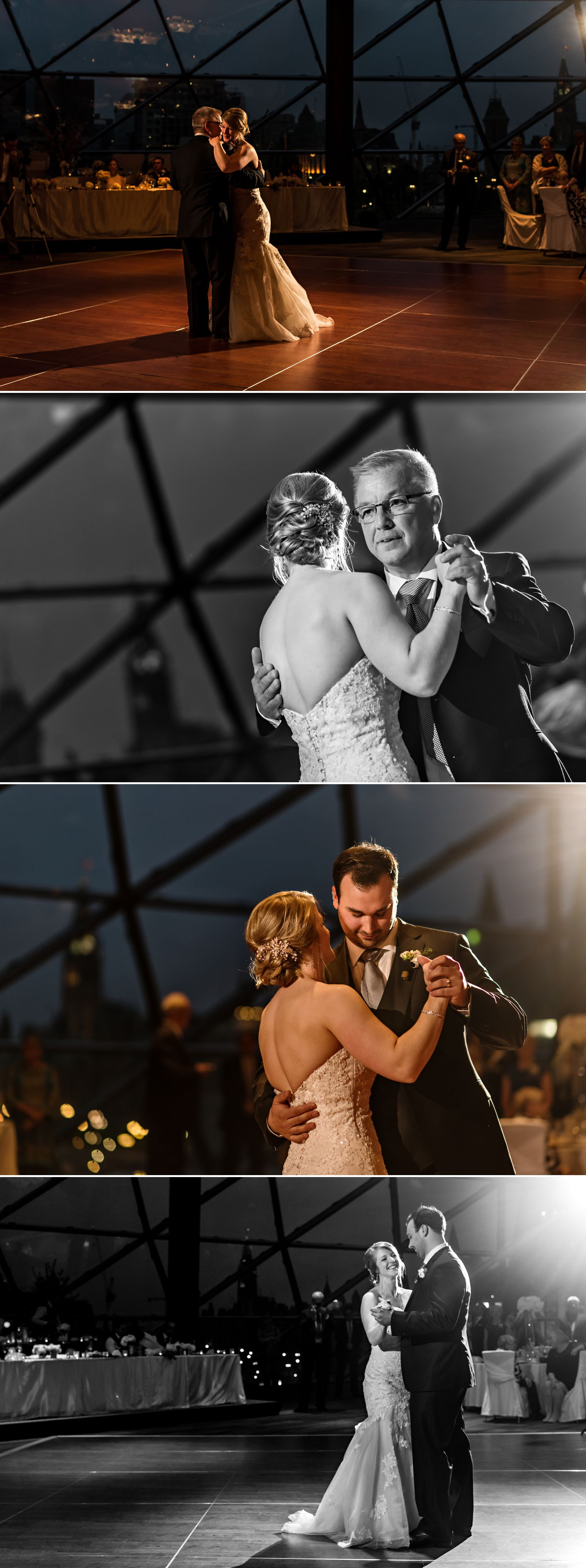 First dances with the Bride and her father and the bride and groom at the Shaw Centre in Downtown Ottawa
