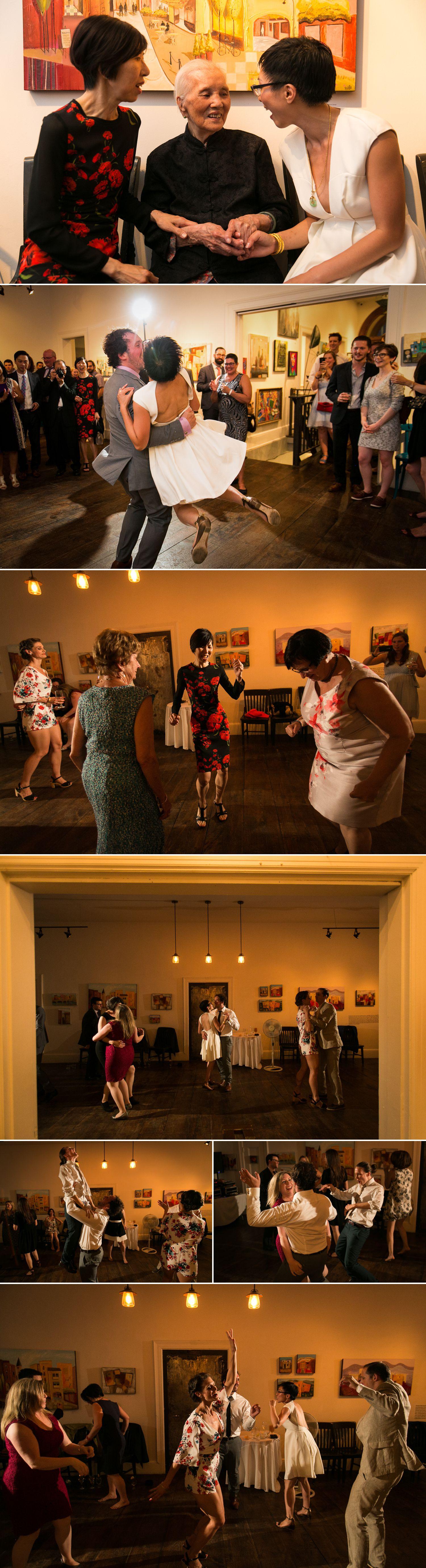 Their wedding reception at the Orange Art Galley in Ottawa's Centretown