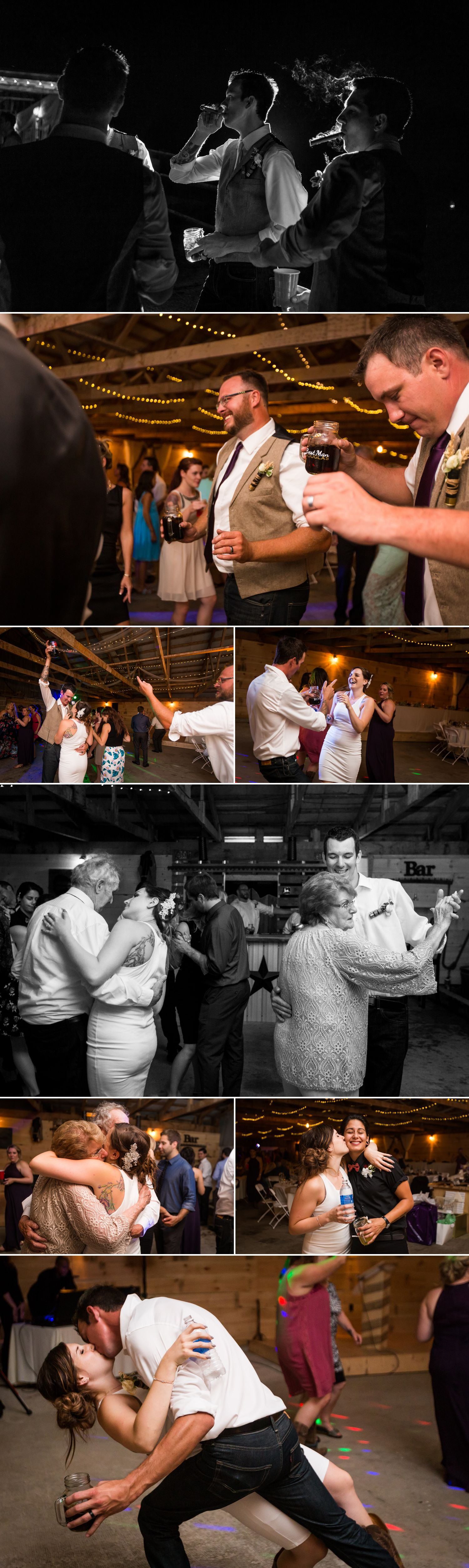 A wedding reception at the couple's newly renovated barn in Carp
