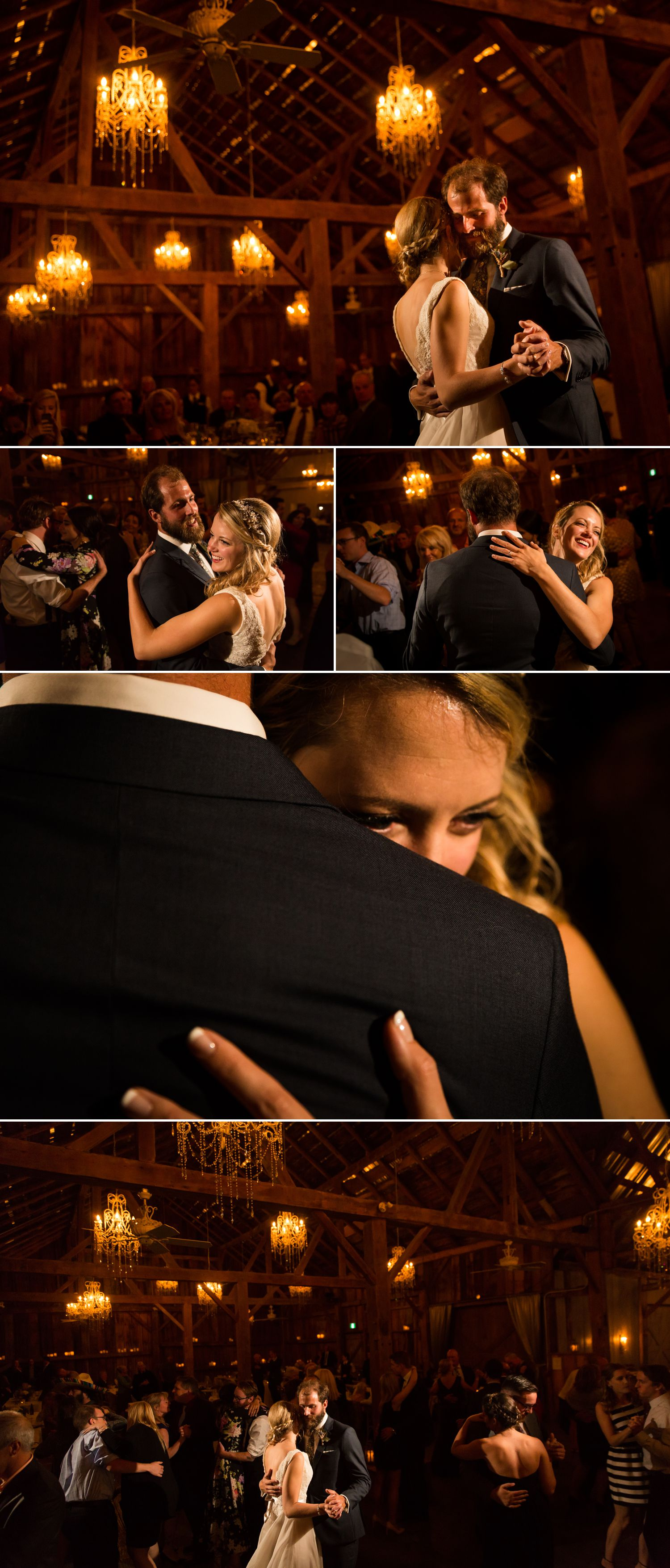 The bride and groom's first dance at the Evermore wedding