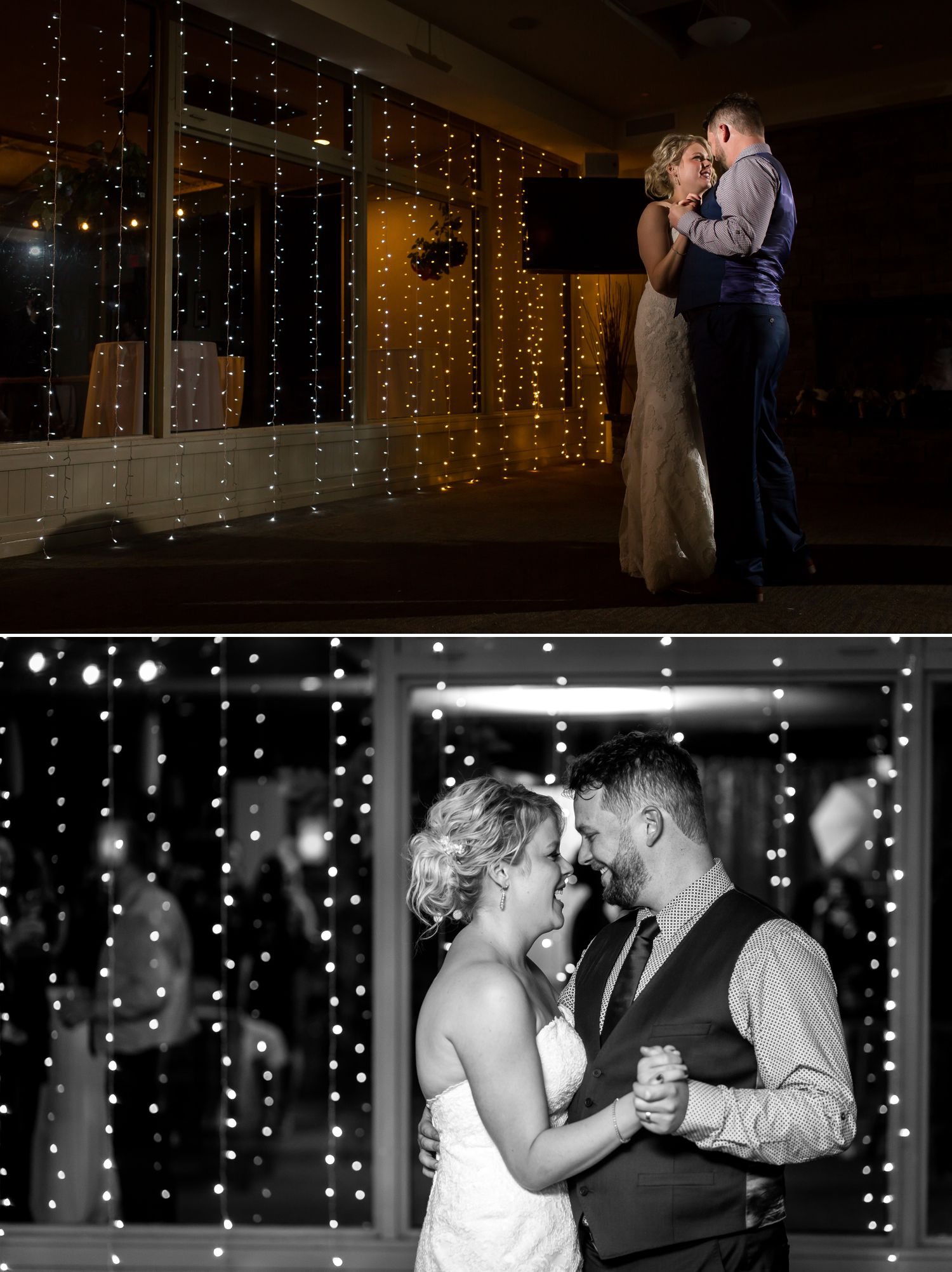 The bride and groom during their first dance at their Rideau View Golf Club Wedding