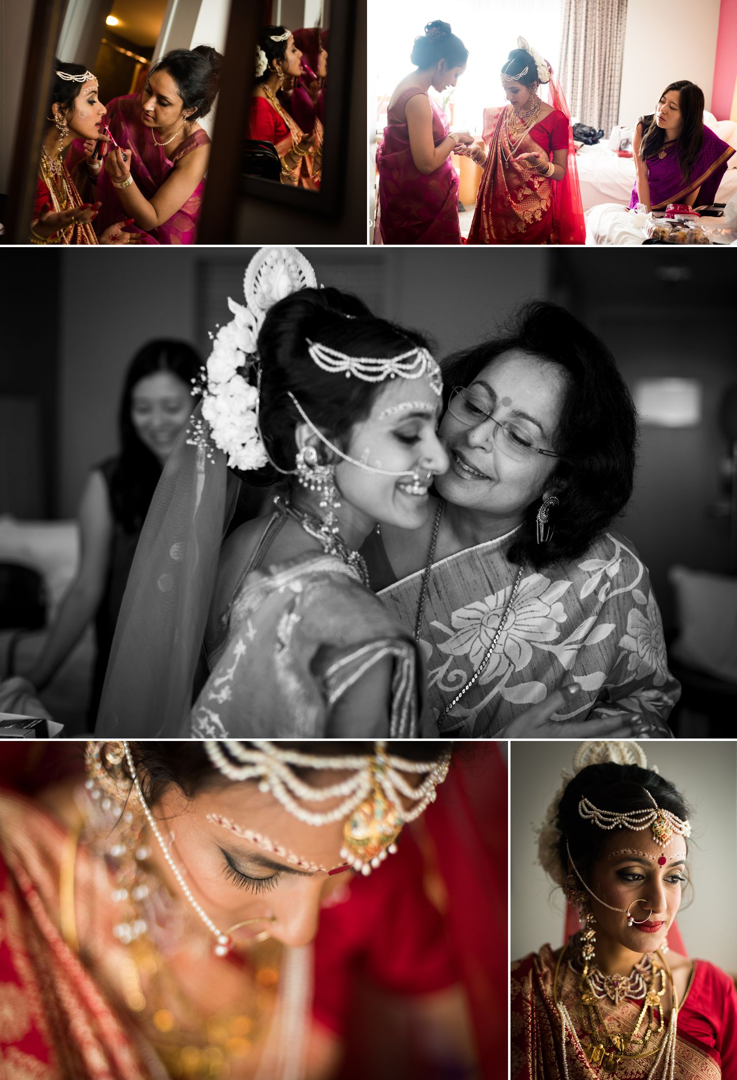 The bride and her mother getting ready at the Brookstreet Hotel & Resort in Kanata