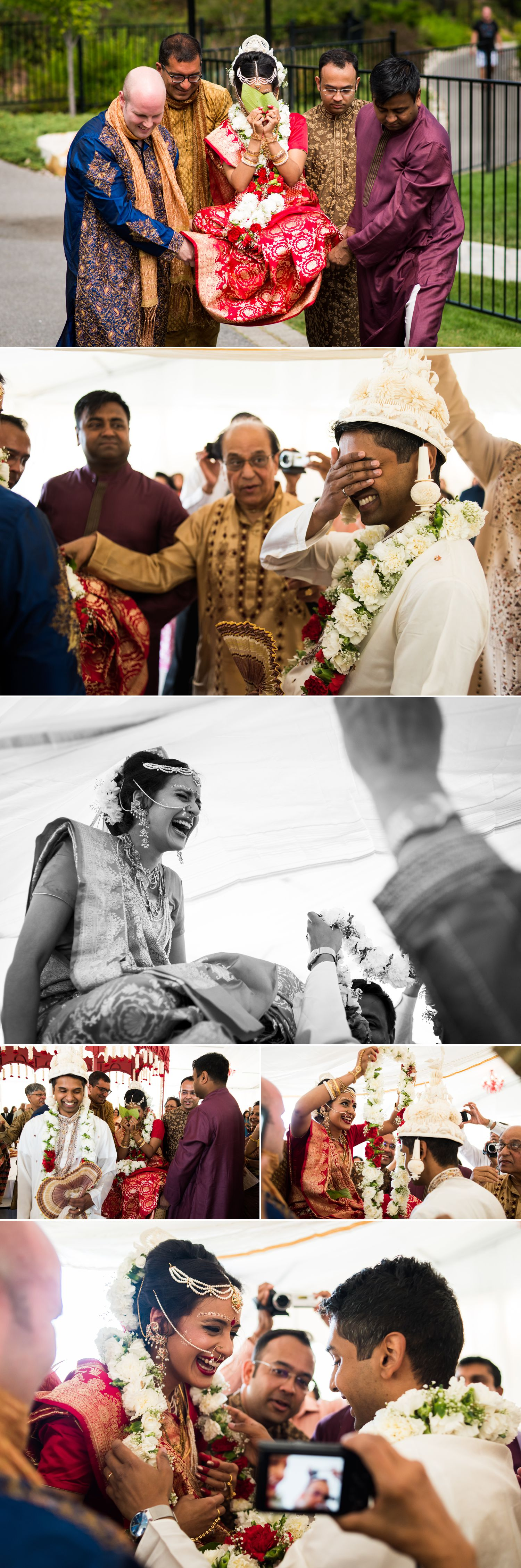 The bride during the traditional Indian wedding pre-ceremony rituals at the Brookstreet Hotel & Resort in Kanata
