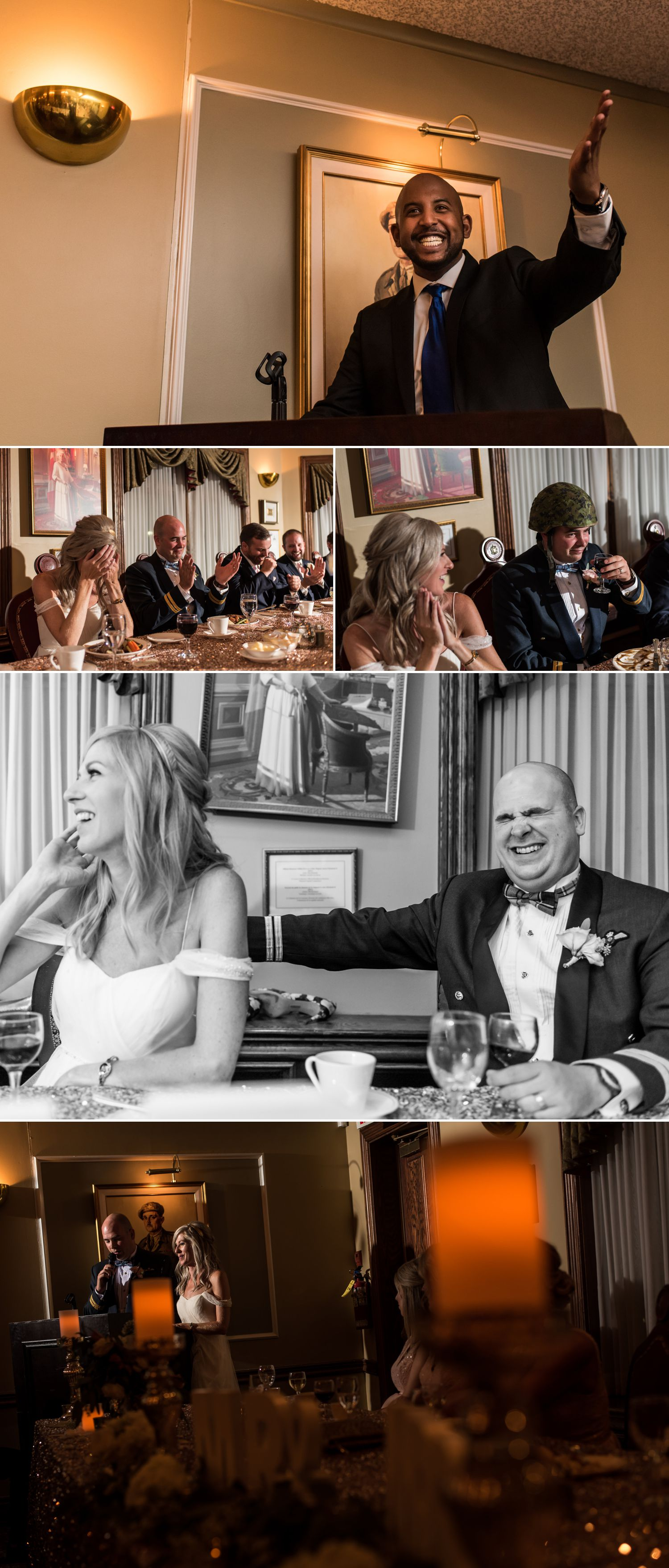 candid moments at an army mess wedding reception in ottawa ontario