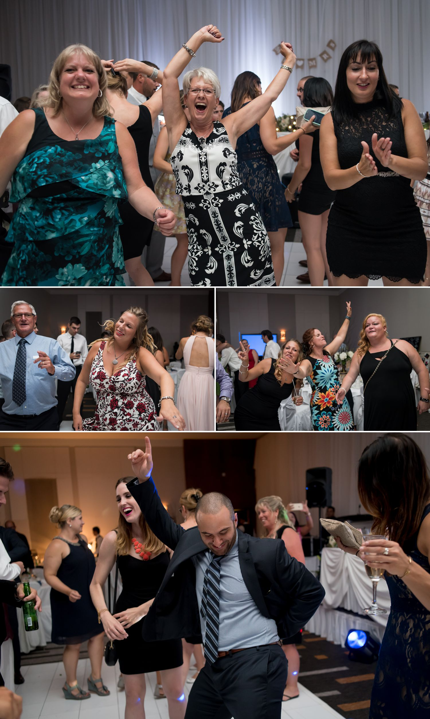 Guests dancing during a wedding reception at The Delta Hotel in downtown Ottawa