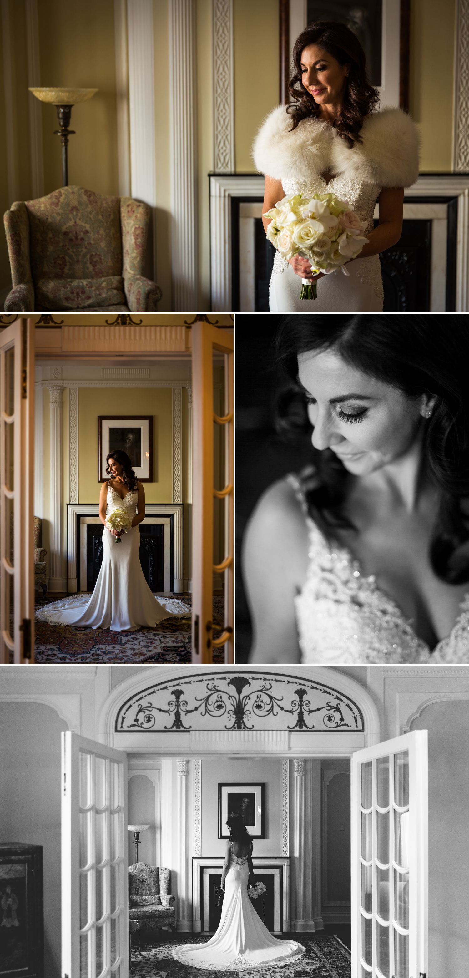 Bridal portrait at le chateau laurier in Ottawa