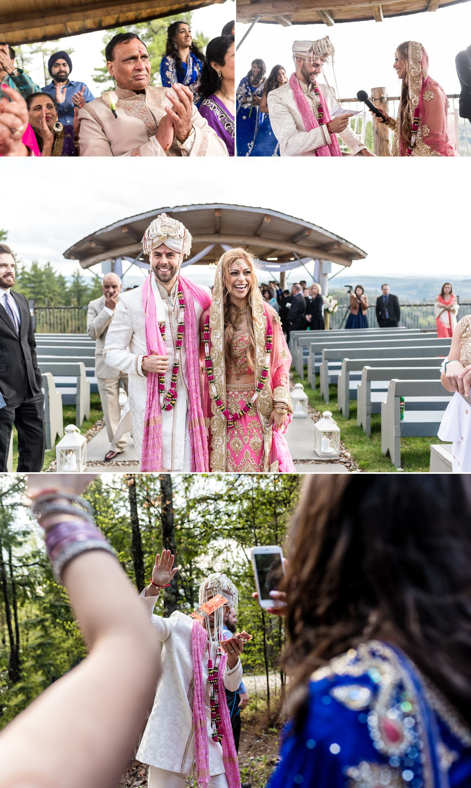 candid wedding moments during a wedding ceremony in wakefield at le belvedere