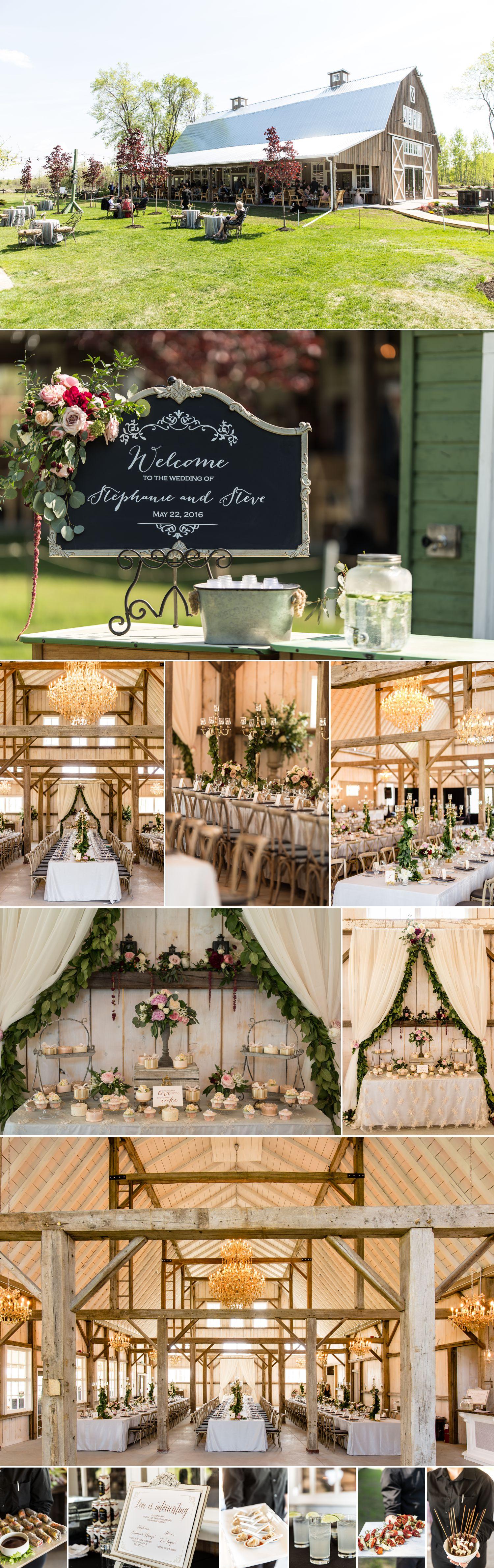 wedding reception details stonefields carleton place ontario
