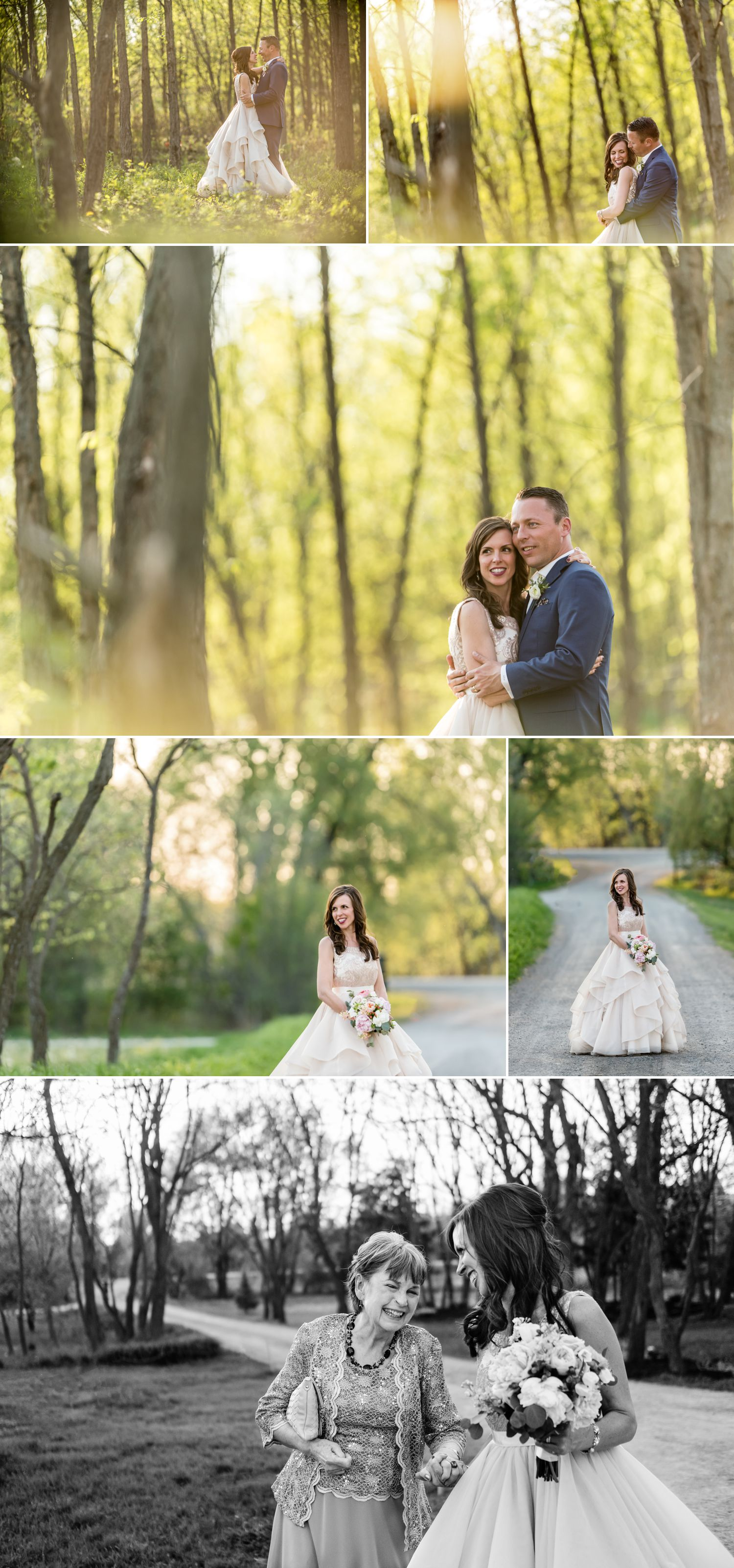 bride and groom sunset portraits stonefields carleton place ontario