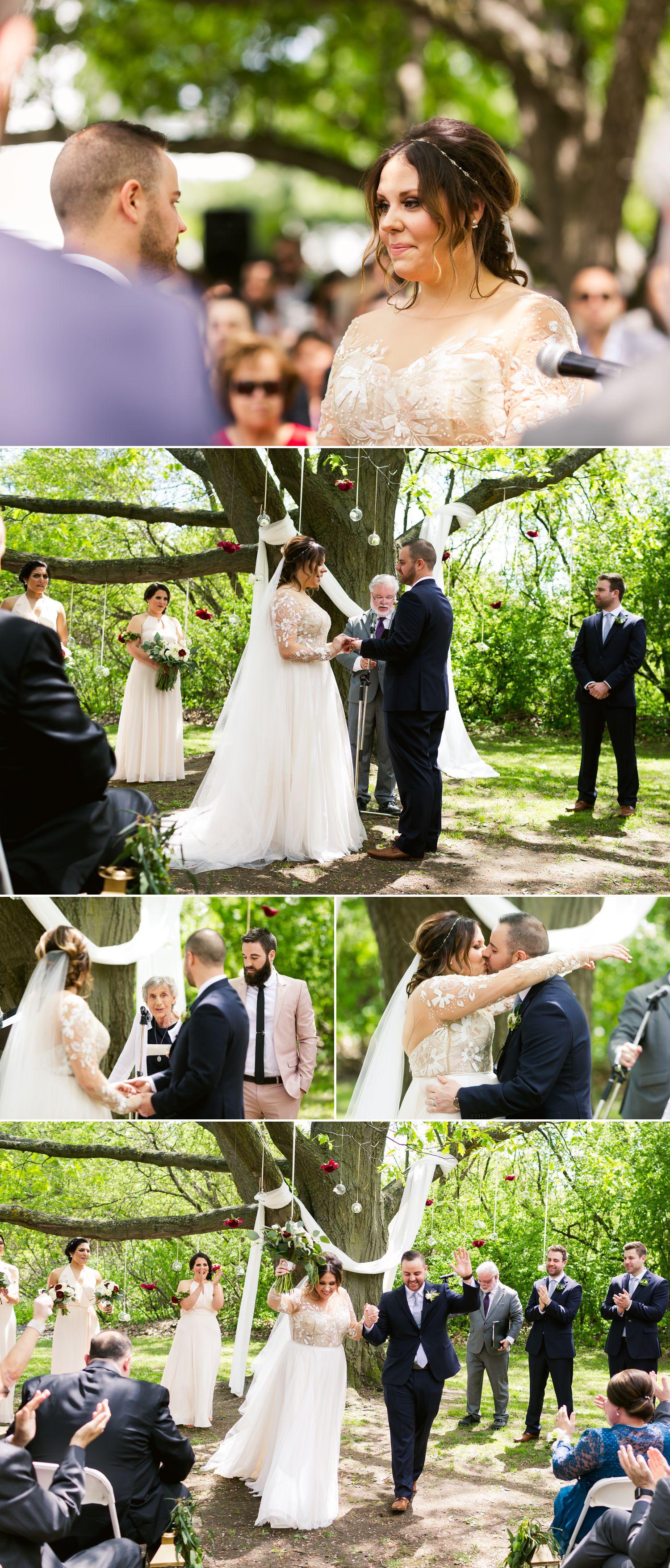 An outdoor spring wedding at Billings Estate in Ottawa